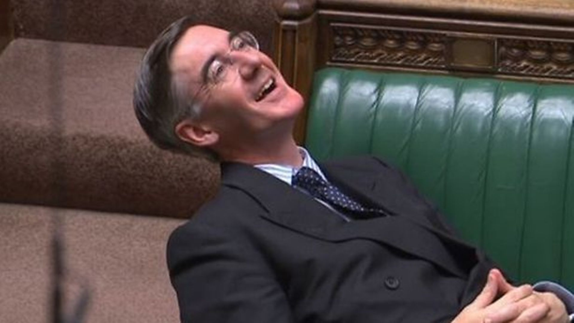 Jacob Rees-Mogg in the House of Commons - Credit: Parliament TV