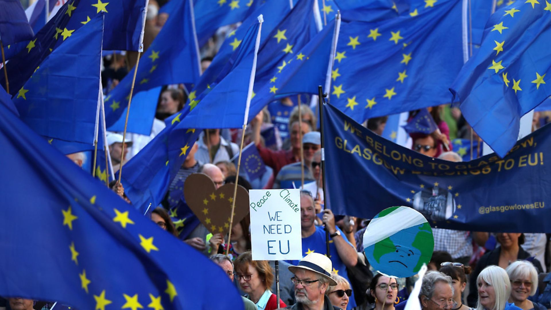 Protestors during a march to Remain. Photograph: Andrew Milligan/PA. - Credit: PA Wire/PA Images