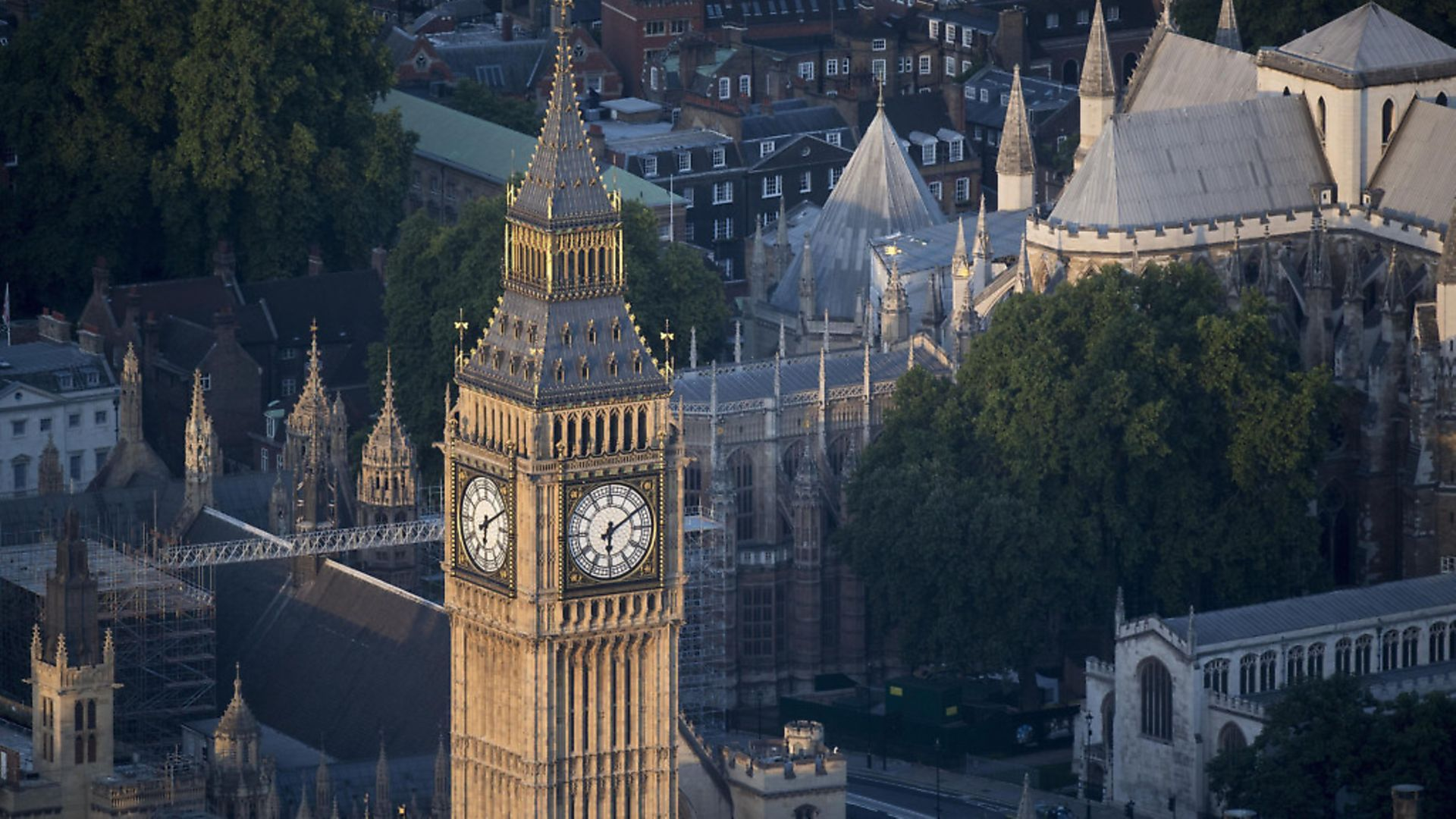 Elizabeth Tower, which houses Big Ben, at the House of Commons in Westminster. Photograph: Victoria Jones/PA. - Credit: PA Archive/PA Images