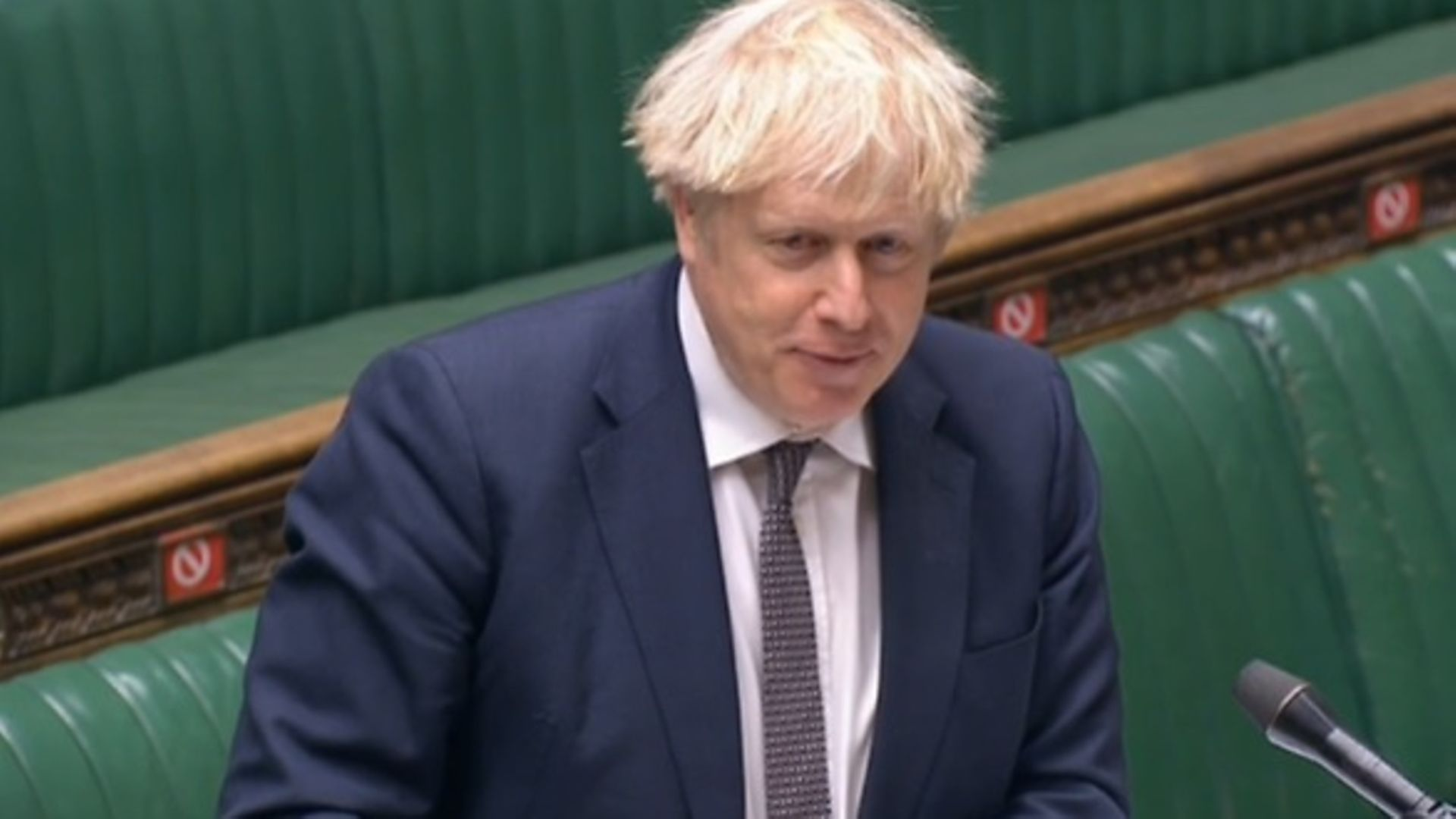 Boris Johnson in the House of Commons - Credit: Parliament Live
