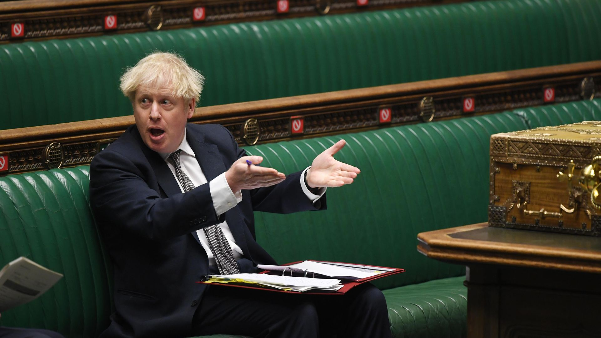 Boris Johnson in the House of Commons - Credit: Jessica Taylor/House of Commons