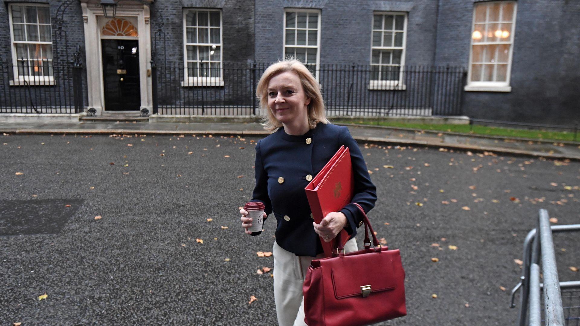 International Trade Secretary Liz Truss arrives in Downing Street London - Credit: PA