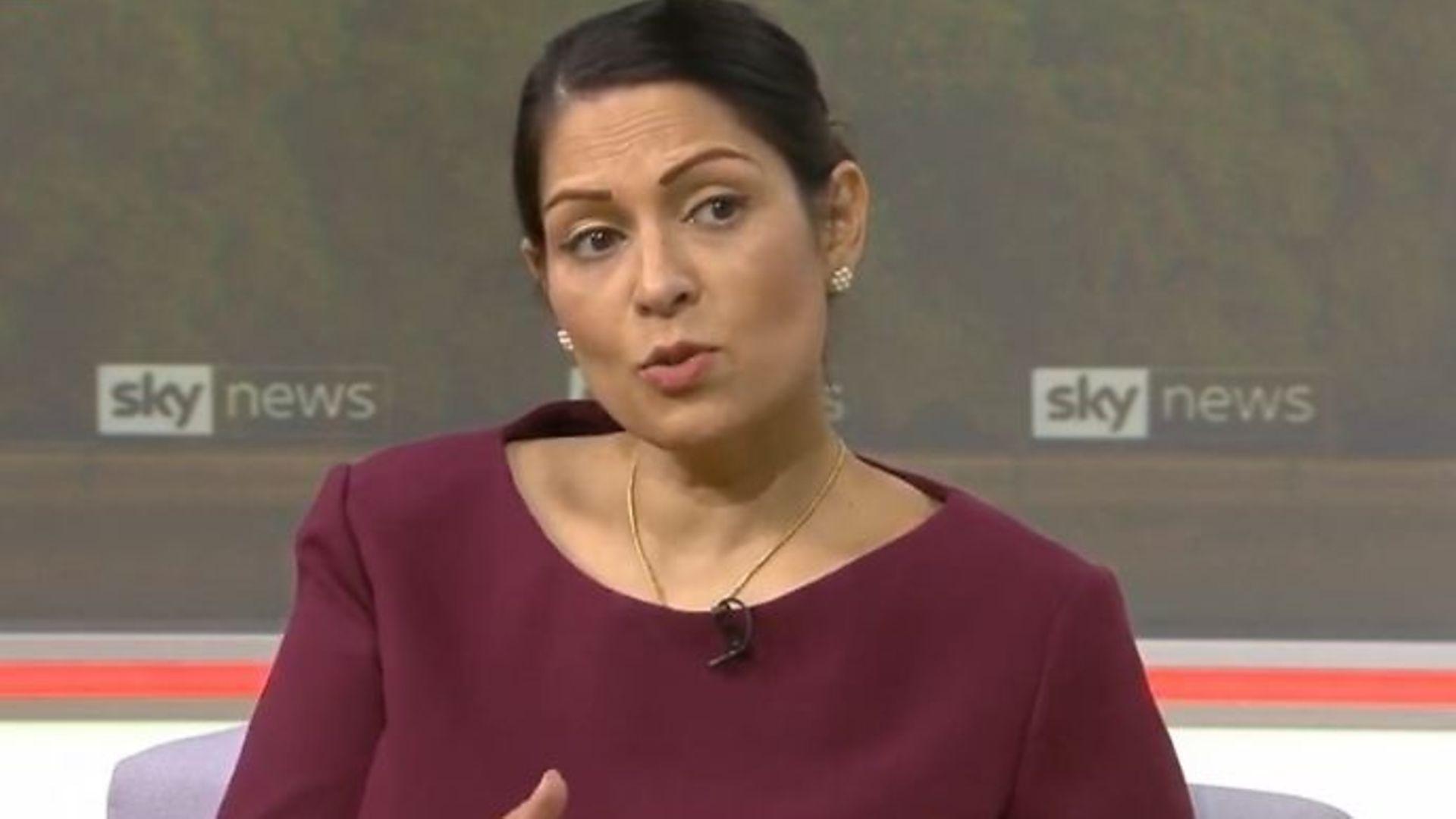 Priti Patel on Sky News - Credit: Sky News