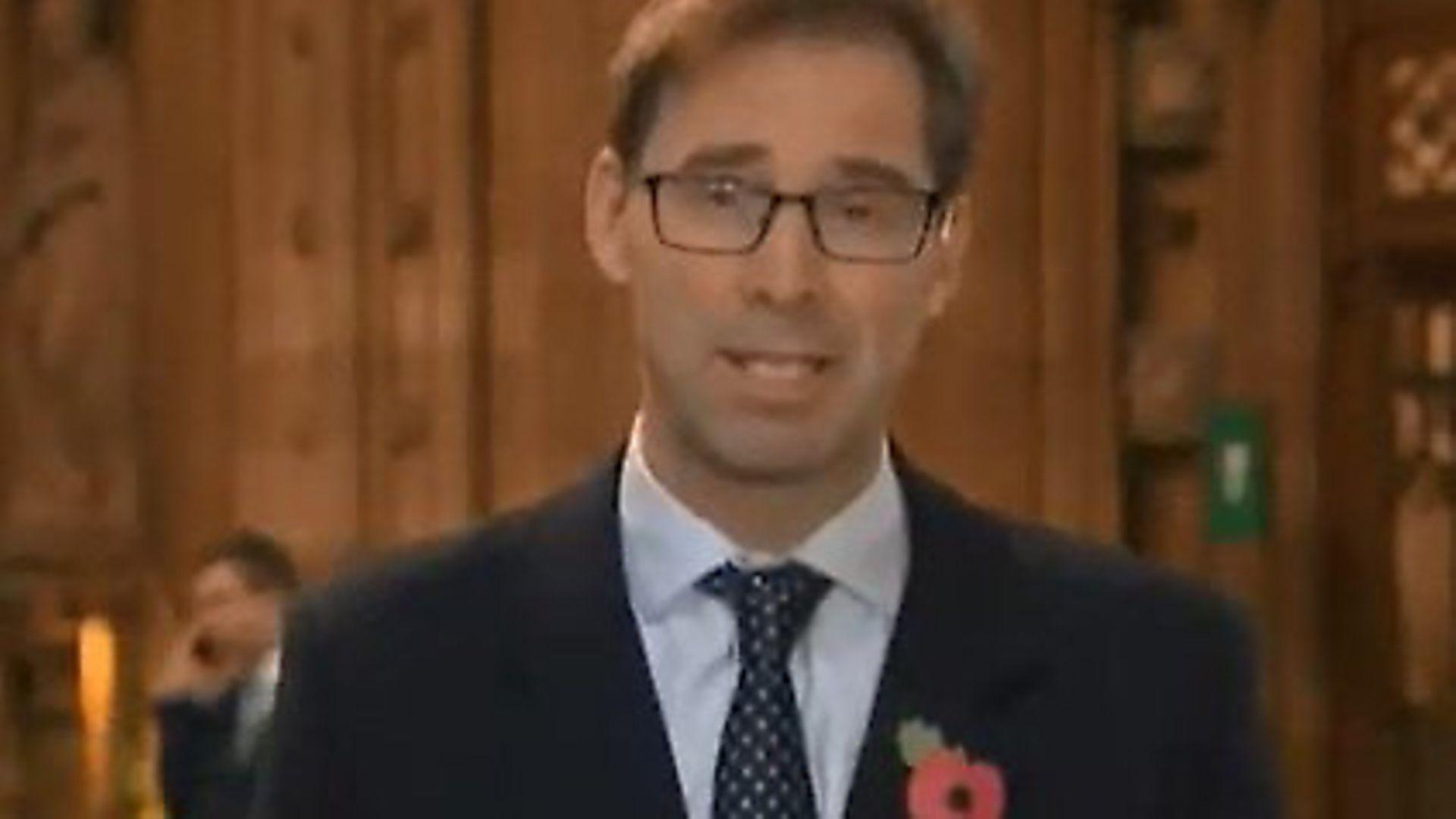 Tobias Ellwood appears on Sky News. Photograph: Sky. - Credit: Archant