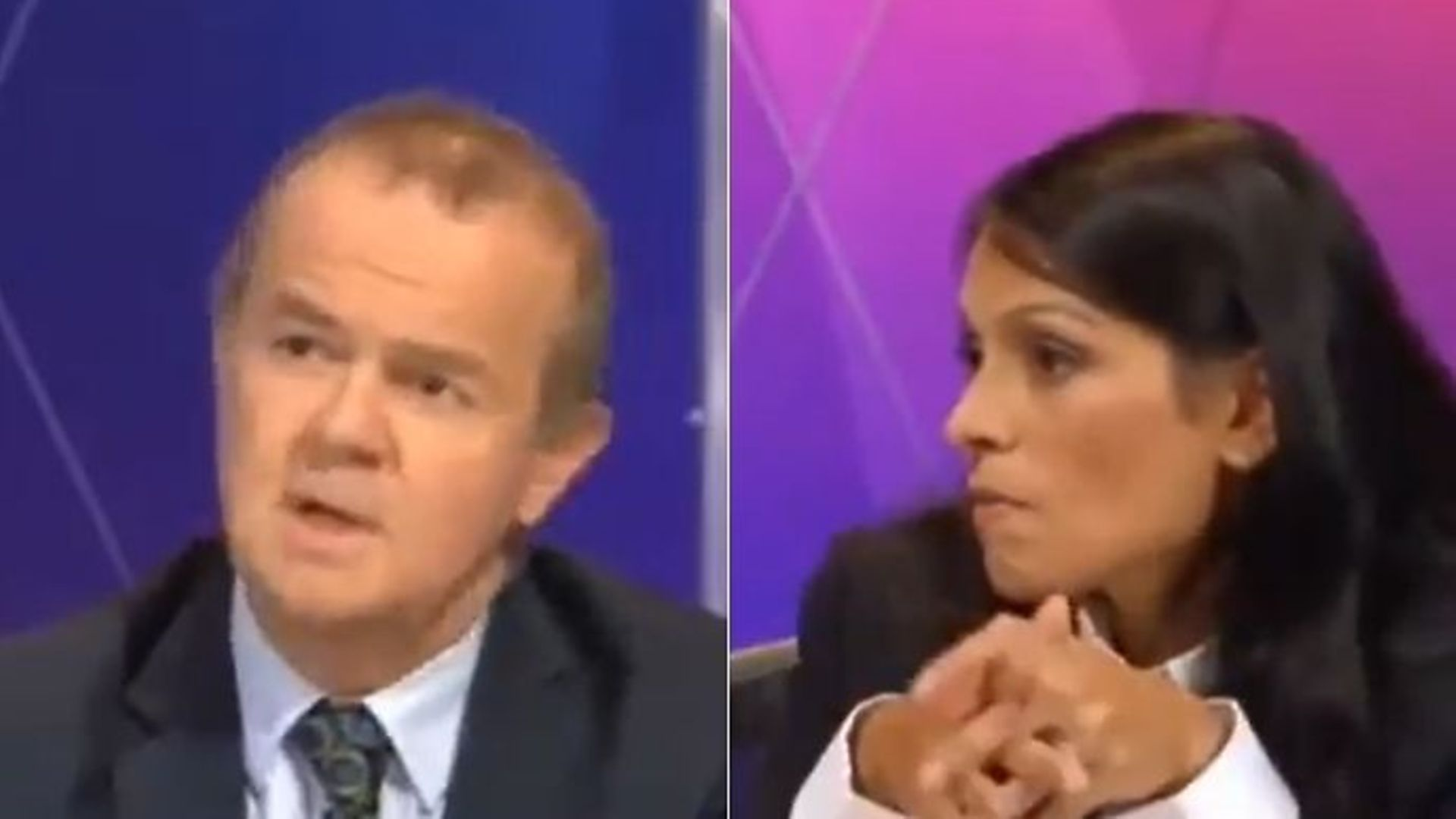 Ian Hislop (L) and Priti Patel on Question Time - Credit: Twitter