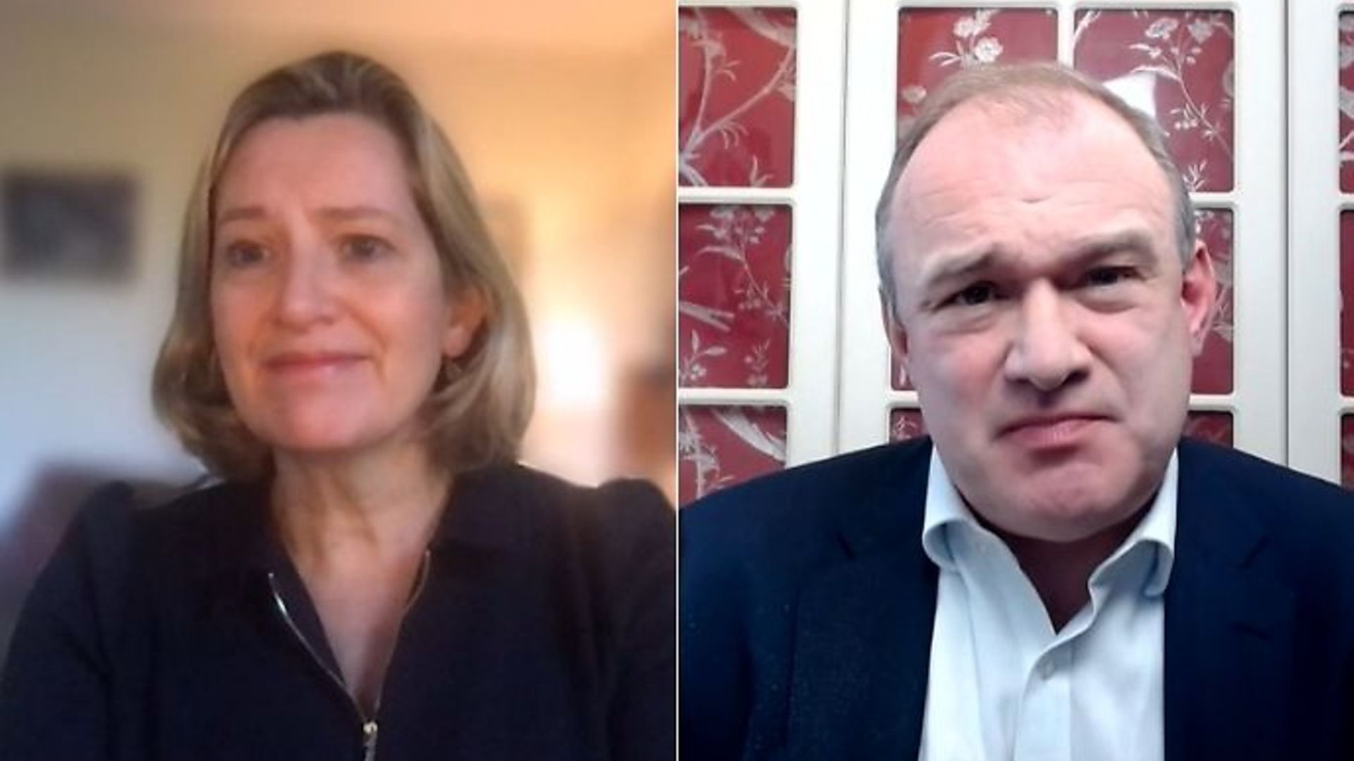 Amber Rudd appeared on Politics Live with Ed Davey - Credit: BBC