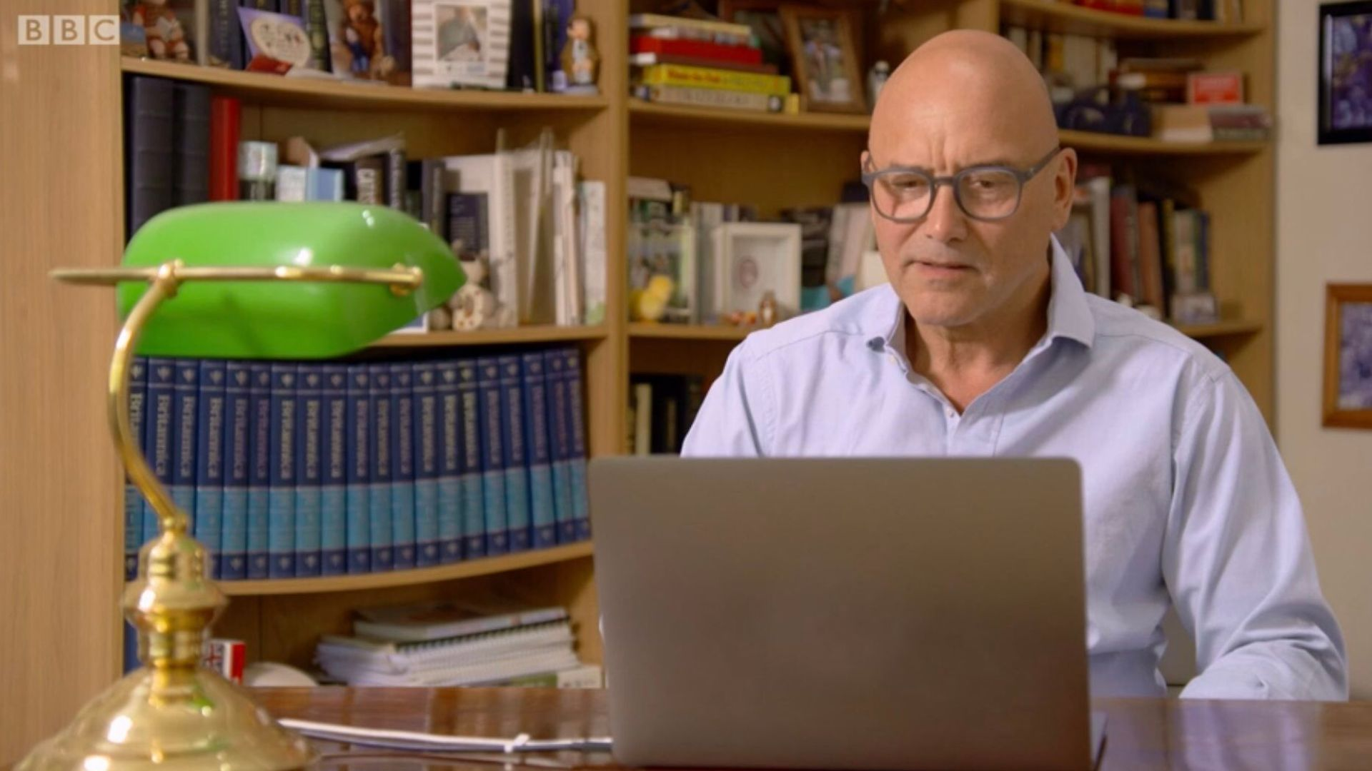 Gregg Wallace's buckling bookshelf attracted plenty of attention and comment - Credit: BBC