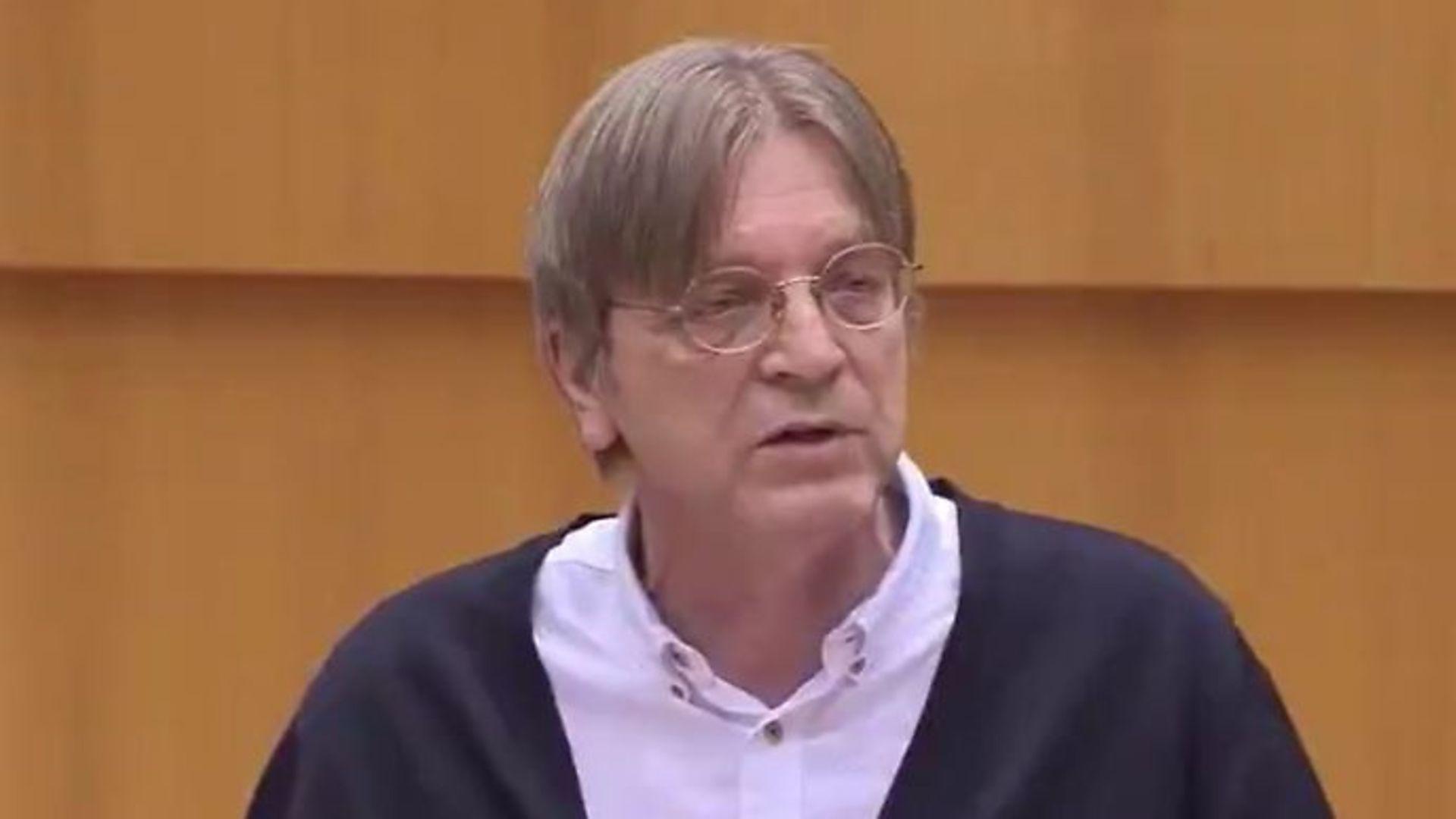 Belgian MEP Guy Verhofstadt - Credit: Twitter