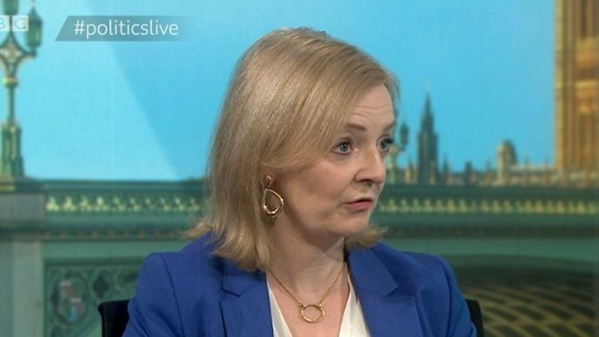 International trade secretary Liz Truss on Politics Live - Credit: BBC