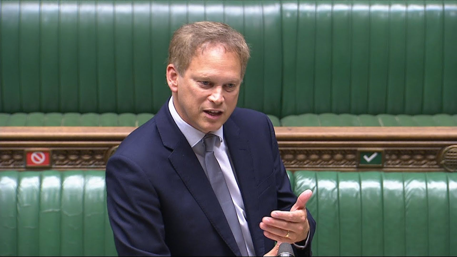 Grant Shapps in the House of Commons - Credit: Parliament Live