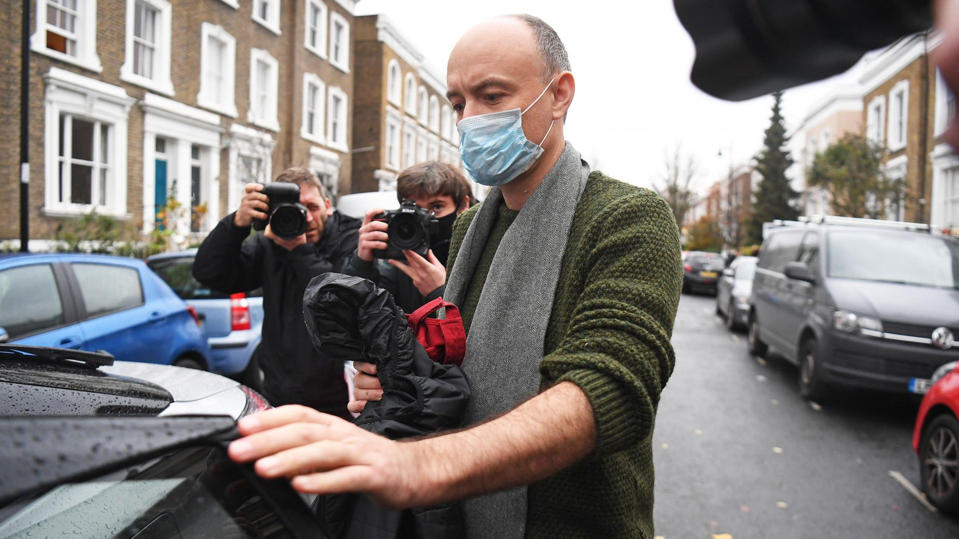 Dominic Cummings outside his north London home after he resigned from his role as Prime minister Boris Johnson's top aide - Credit: PA