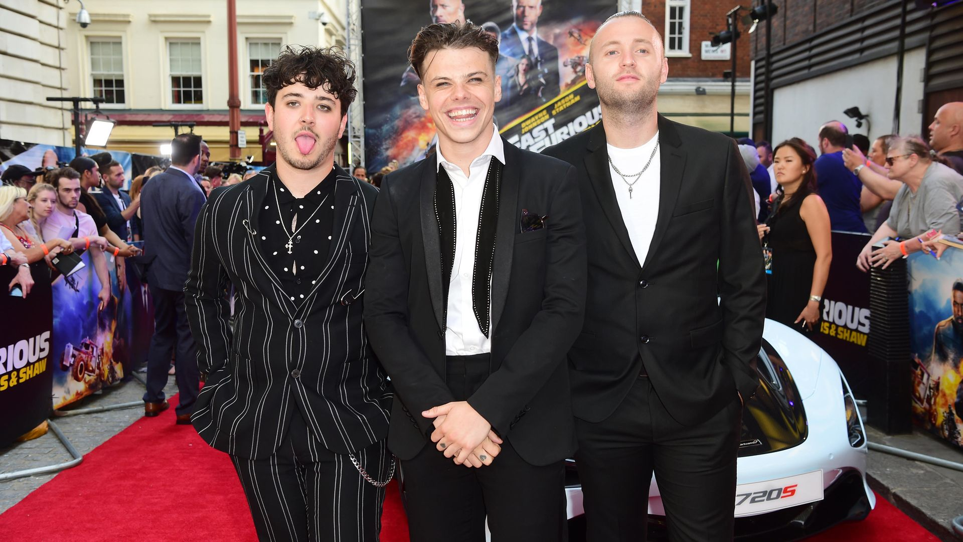 Yungblud (centre) attending a special screening of Fast & Furious - Credit: PA