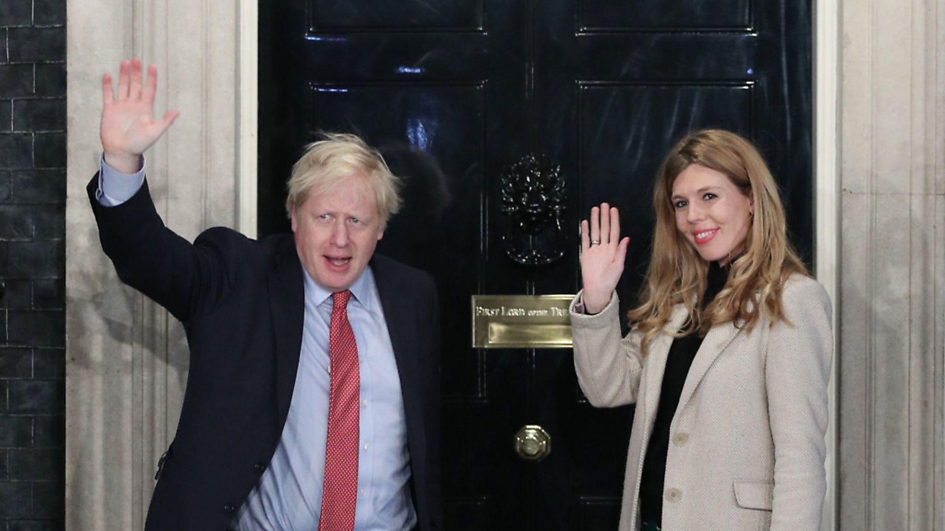 Prime Minister Boris Johnson and his girlfriend Carrie Symonds. Photograph: Yui Mok/PA. - Credit: PA
