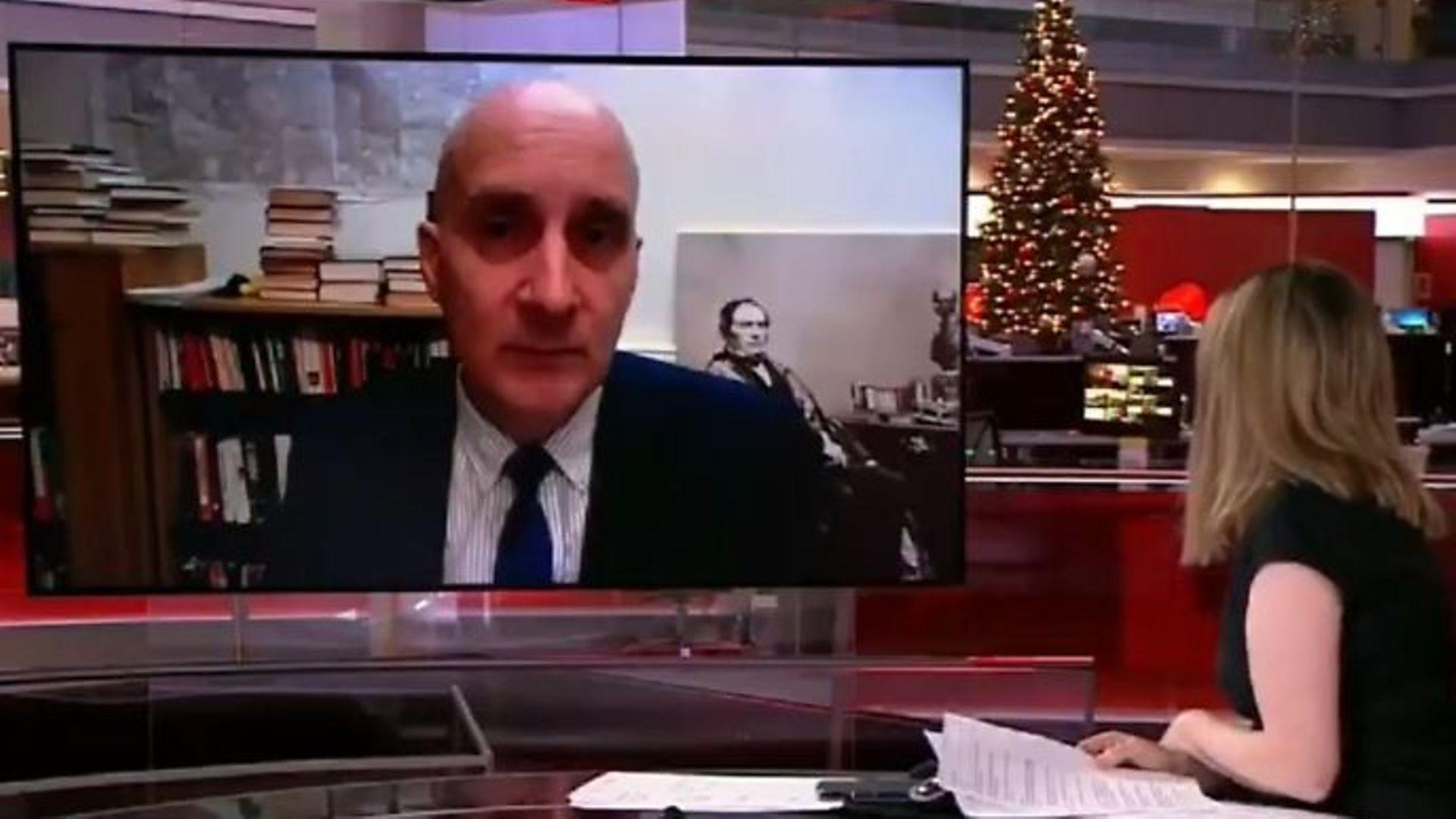 Lord Adonis on BBC News - Credit: Twitter