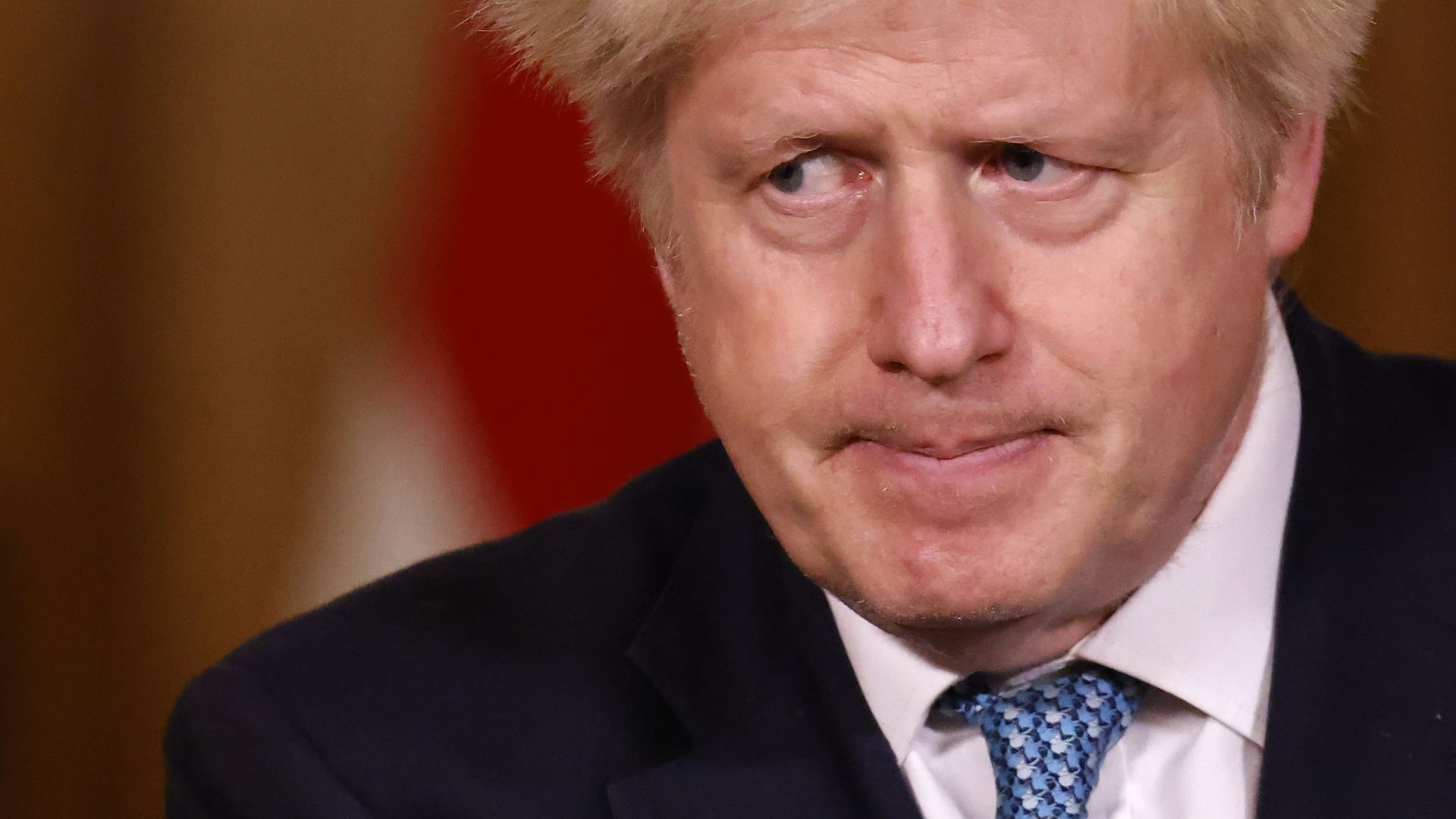 Prime minister Boris Johnson during a media briefing in Downing Street, London, on Covid-19. - Credit: PA