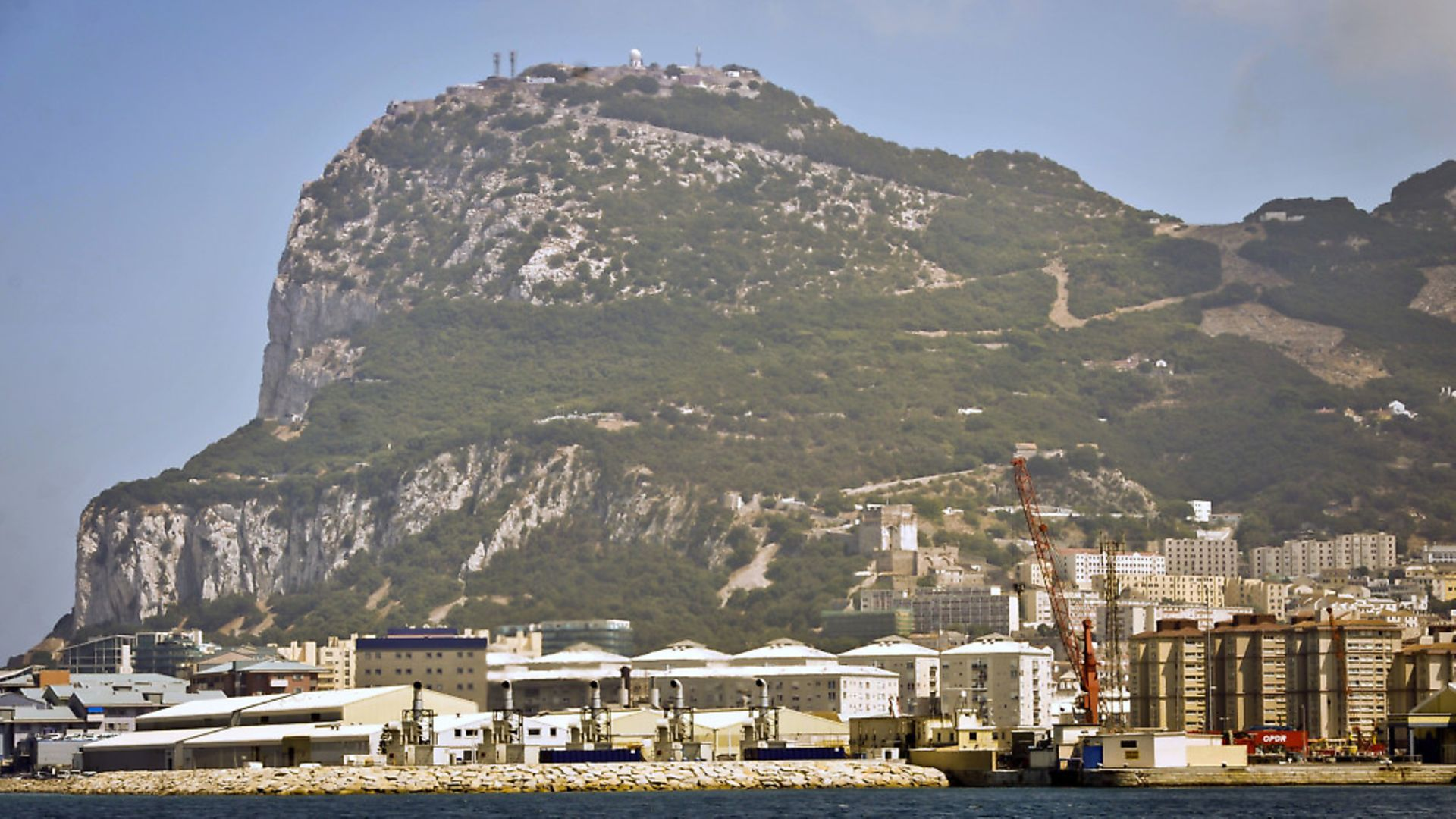 Tthe Rock of Gibraltar as seen from the sea. Photo: Ben Birchall / PA - Credit: PA Archive/PA Images