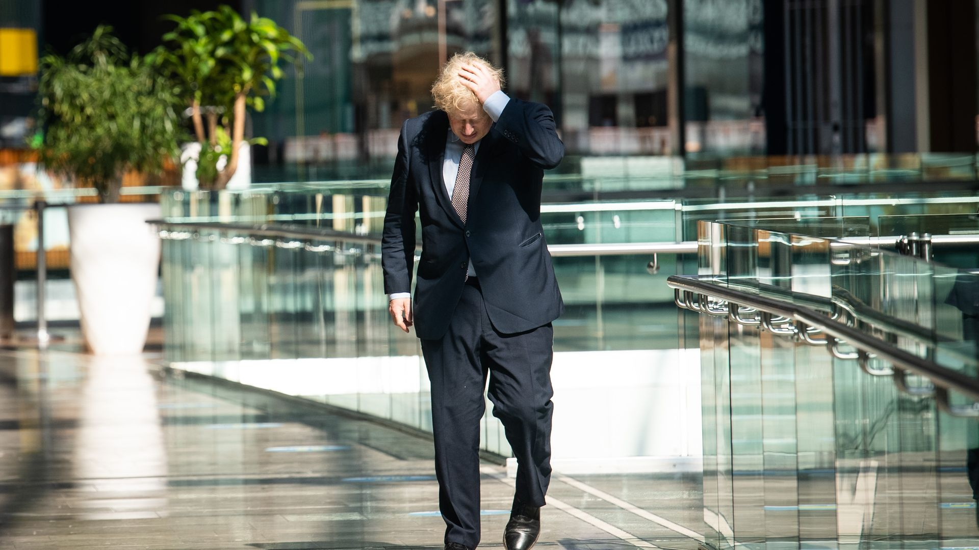 Prime minister Boris Johnson during a visit to Westfield Stratford in east London - Credit: PA