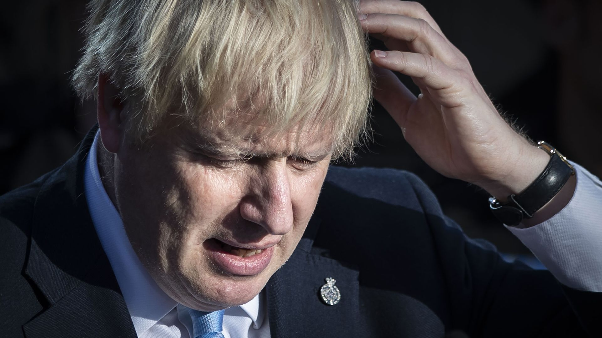 Prime minister Boris Johnson making a speech during a visit to West Yorkshire - Credit: PA
