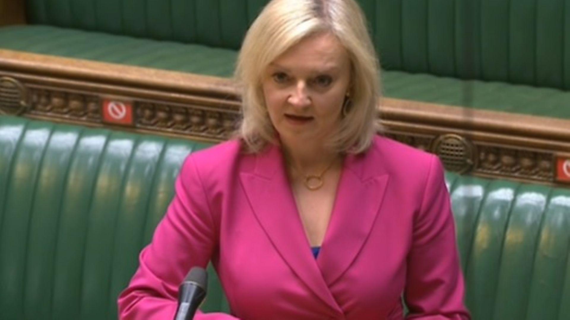 Liz Truss MP - Credit: Parliament TV