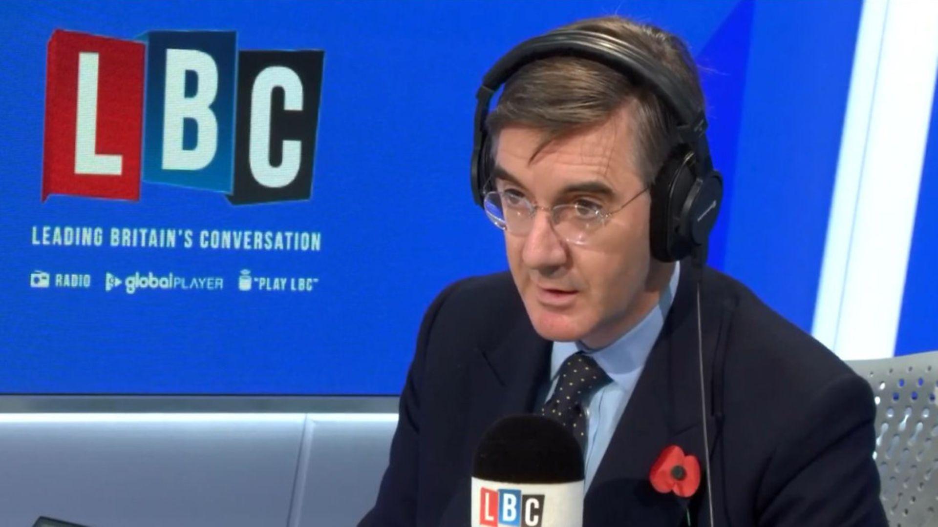 Jacob Rees-Mogg appears on LBC Radio - Credit: Global