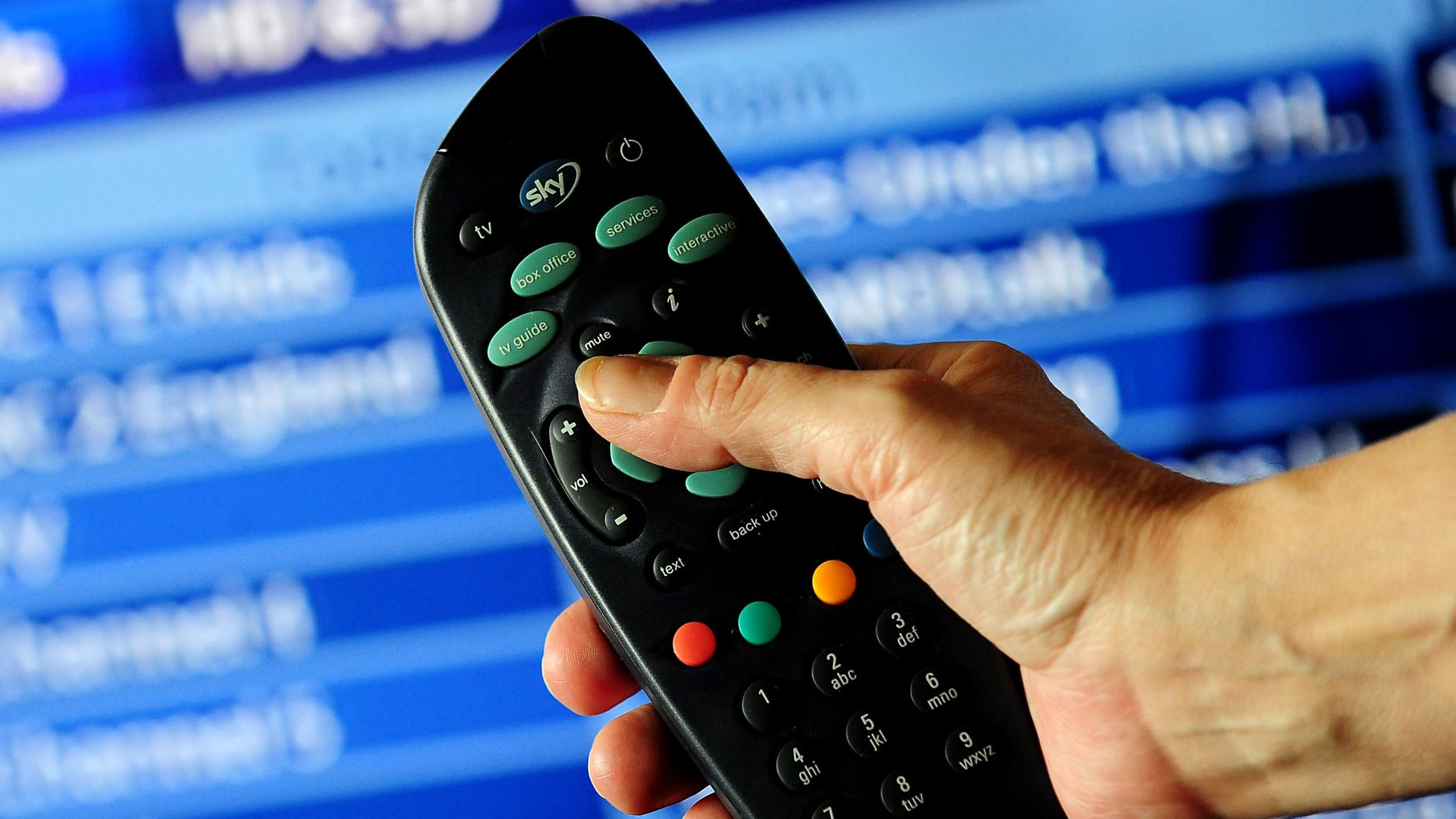 A Sky TV remote control - Credit: PA