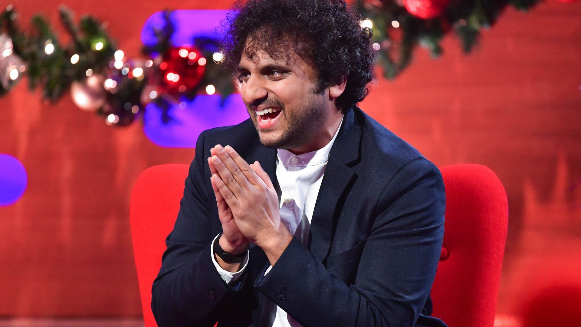 Nish Kumar during the filming for the Graham Norton Show - Credit: PA