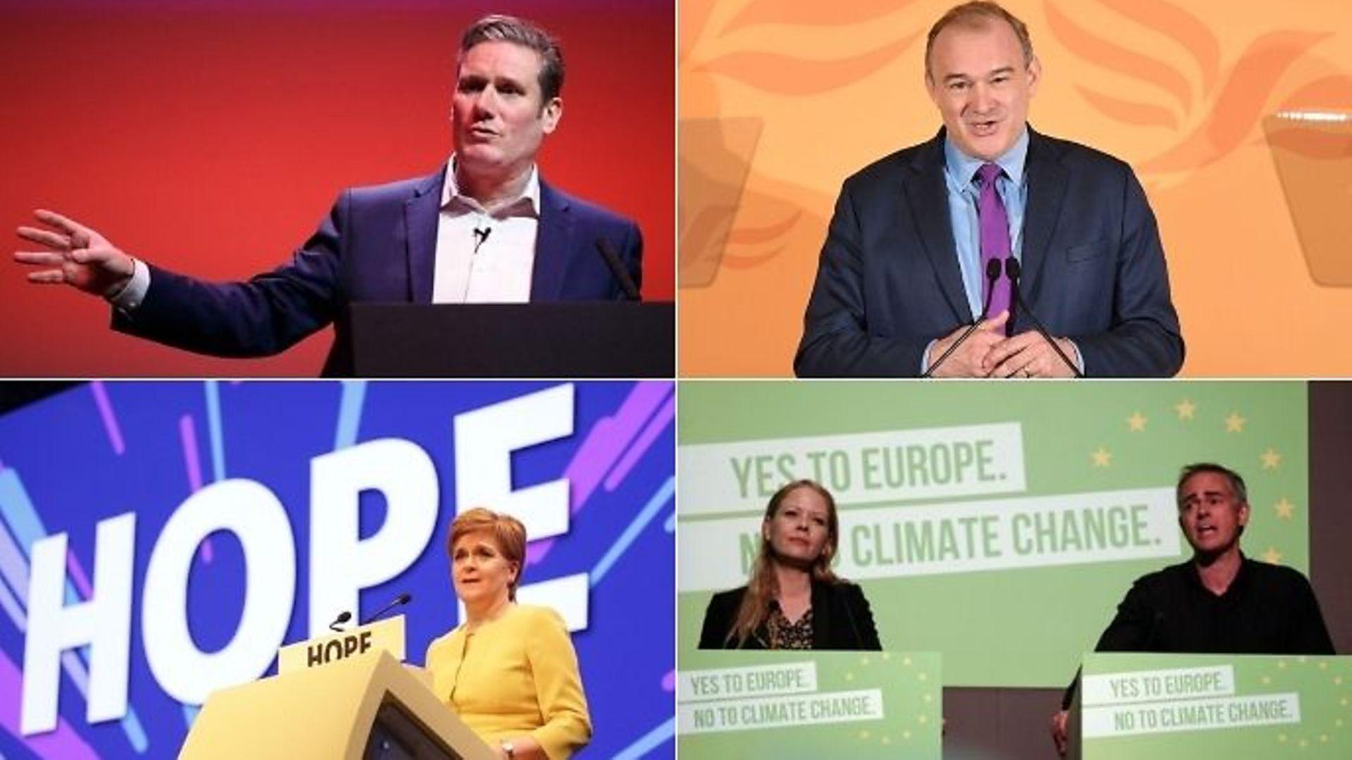 Keir Starmer, Ed Davey, Nicola Sturgeon, Sian Berry and Jonathan Bartley - Credit: TNE