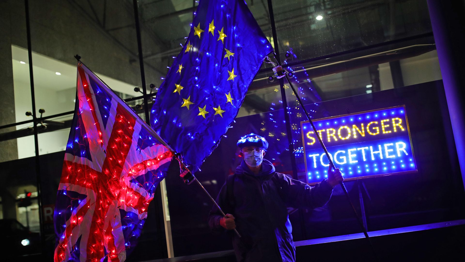 Pro-European protesters campaigning to keep strong links with the EU - Credit: PA