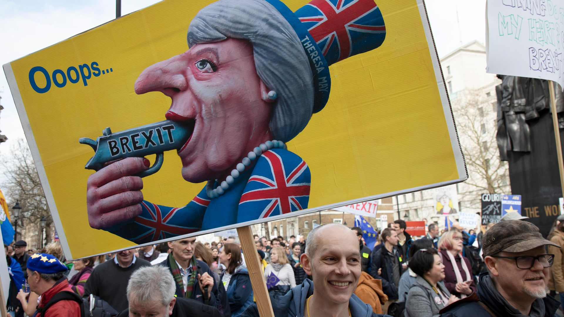 Triggered: a protestor at an anti-Brexit rally - Credit: In Pictures via Getty Images