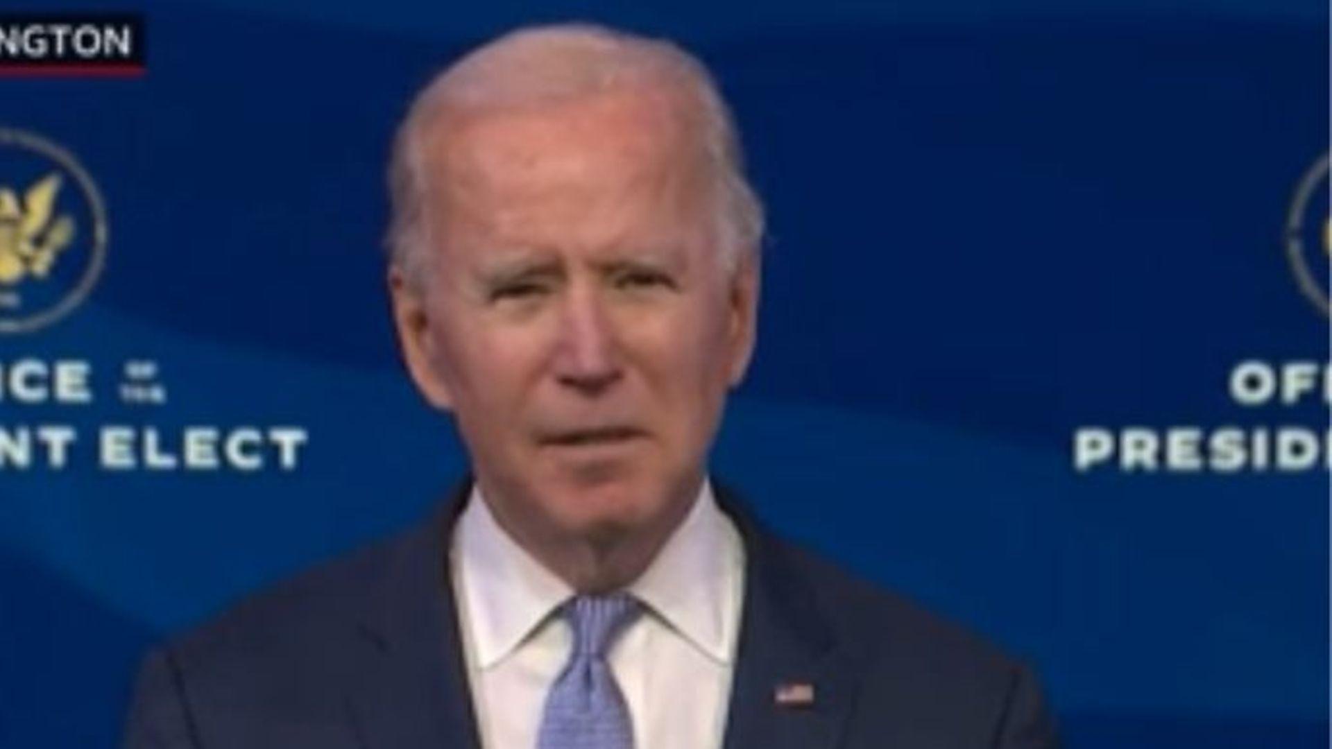 US president-elect Joe Biden - Credit: BBC