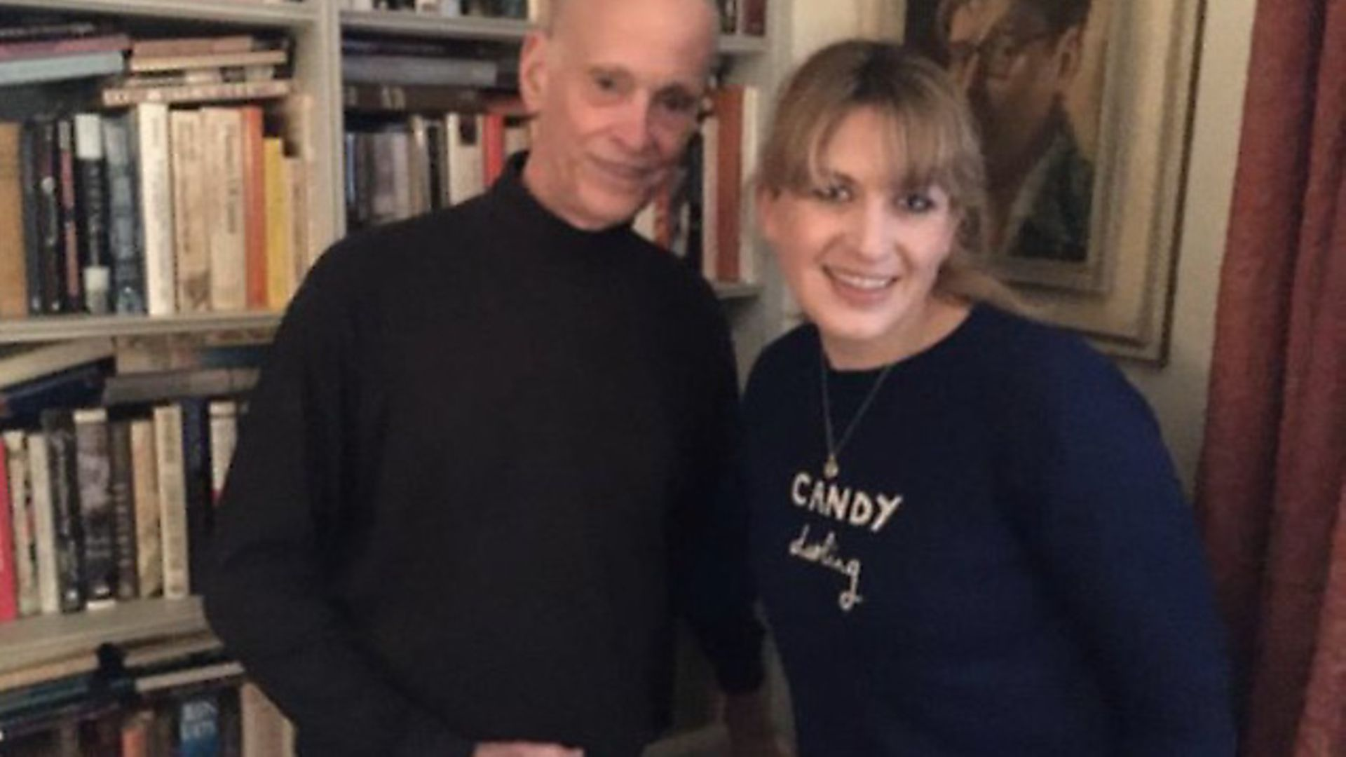 You're booked podcast presenter Daisy Buchanan with John Waters. Photo: Twitter - Credit: Archant