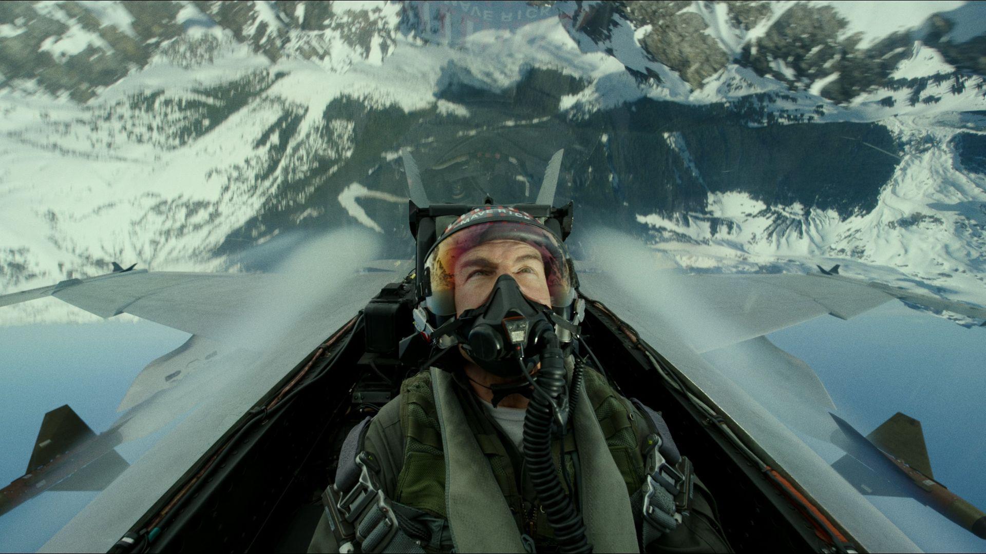 "Tom Cruise plays Capt. Pete ""Maverick"" Mitchell in Top Gun: Maverick. - Credit: Paramount Pictures"