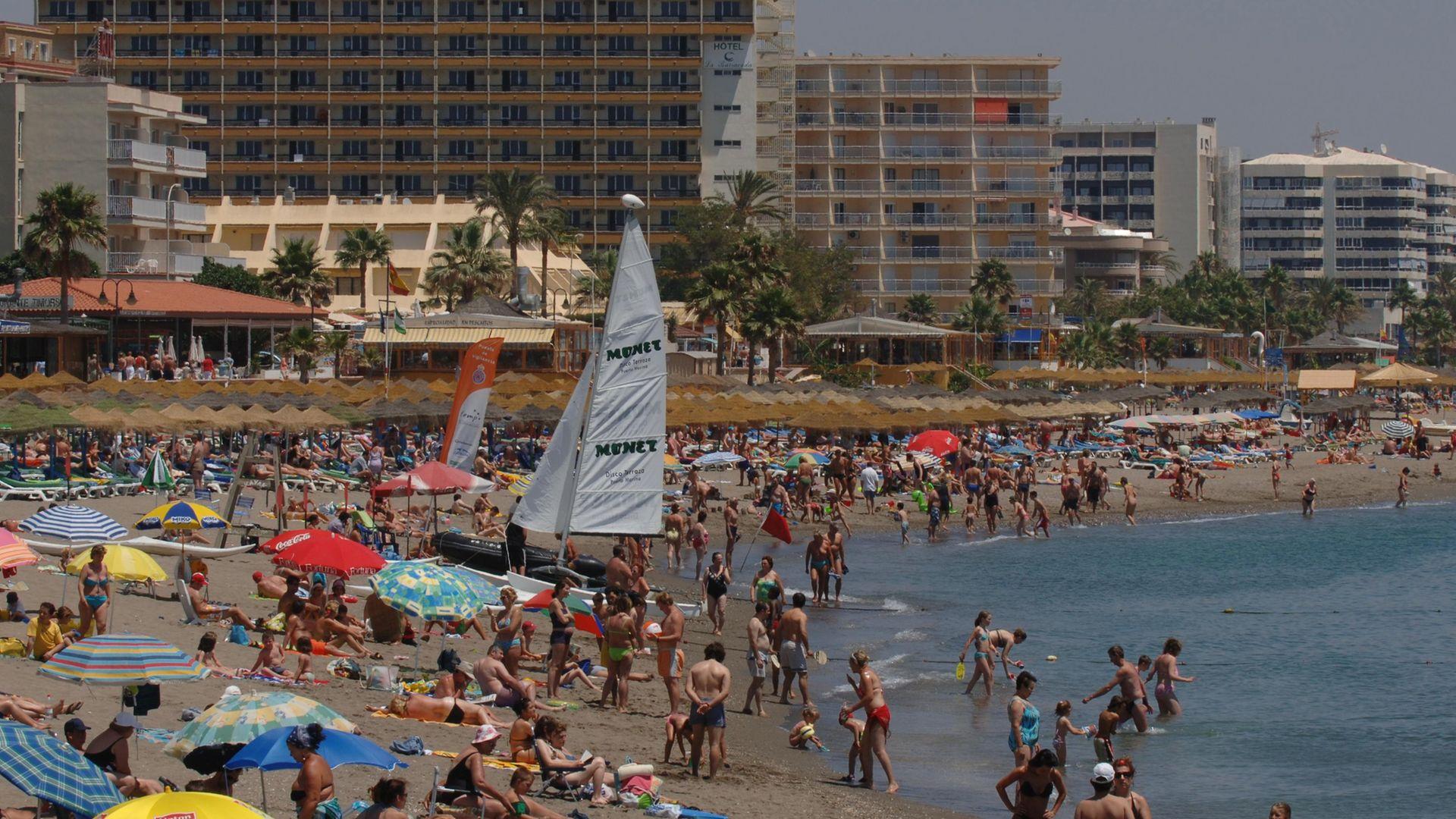 Costa del Sol beach near Torremolinos. - Credit: PA