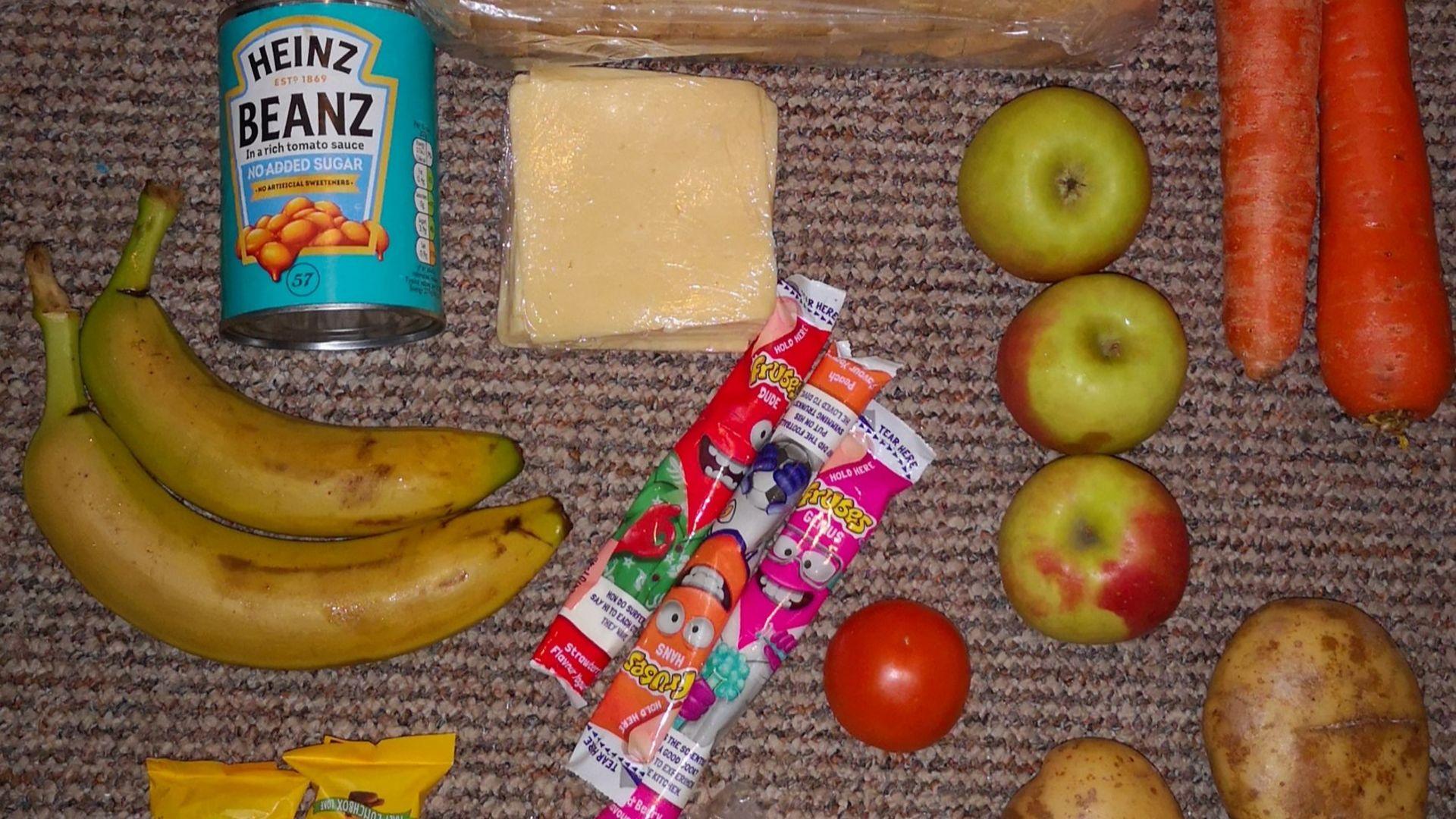 A free school meal parcel - Credit: Roadside Mum/Twitter