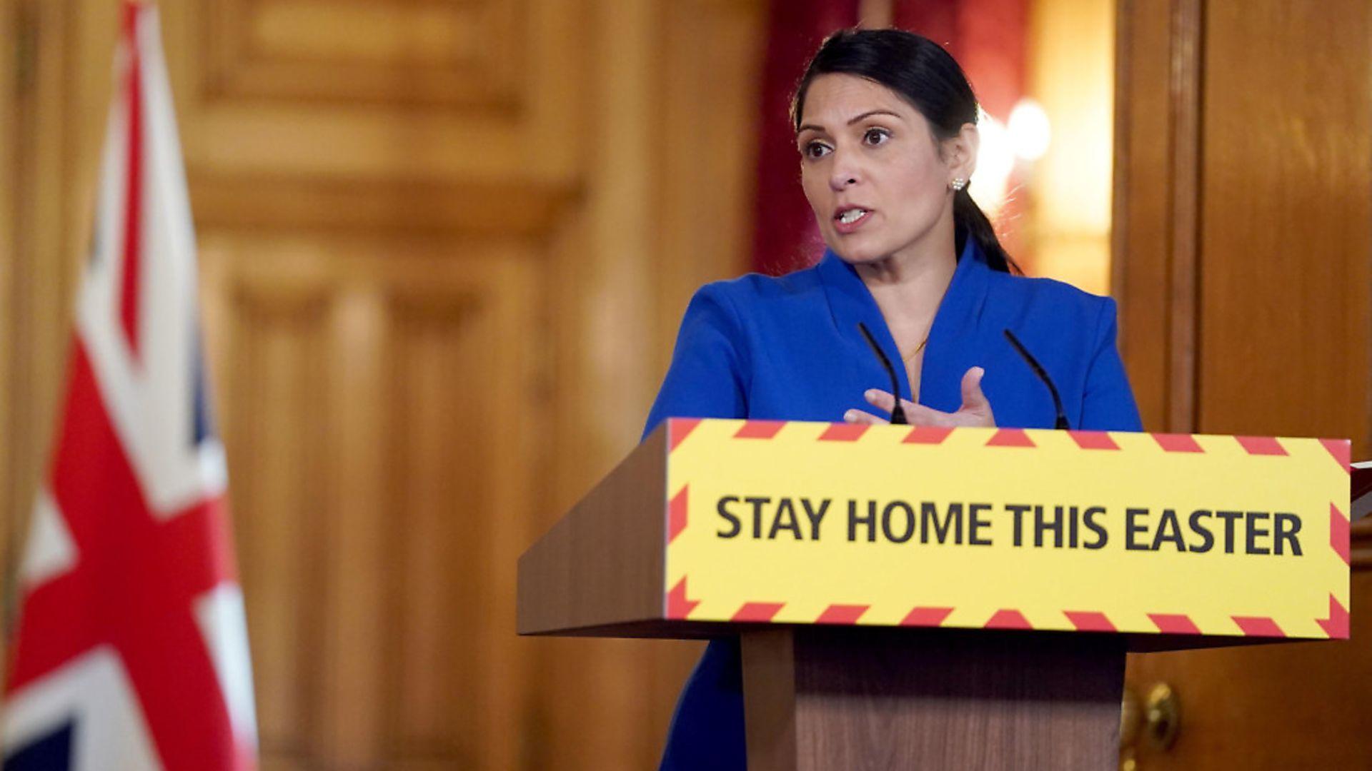 Home secretary Priti Patel. Photograph: Pippa Fowles/10 Downing Street/Crown Copyright/PA Wire. - Credit: PA