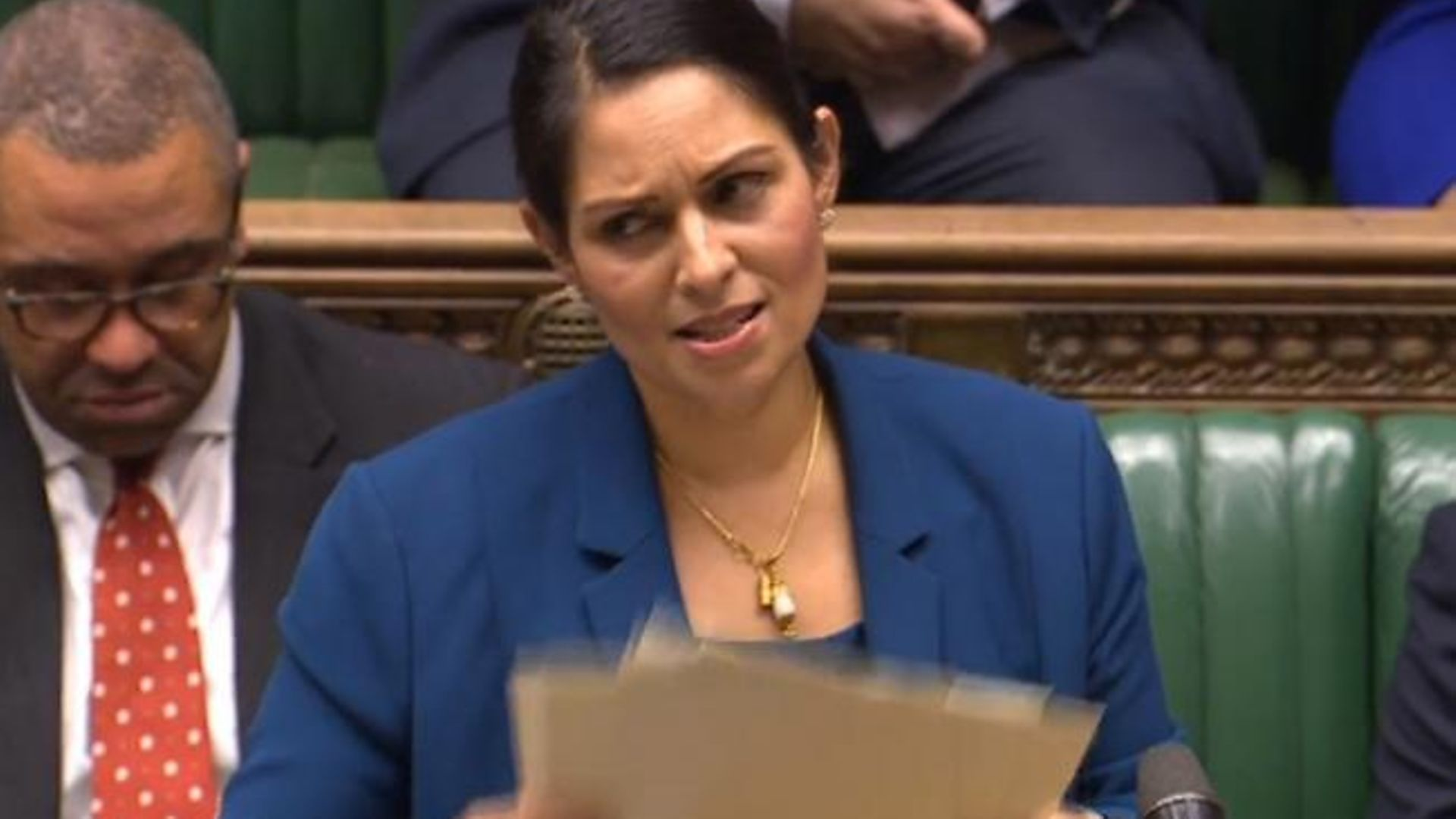Priti Patel in the House of Commons - Credit: Parliament Live