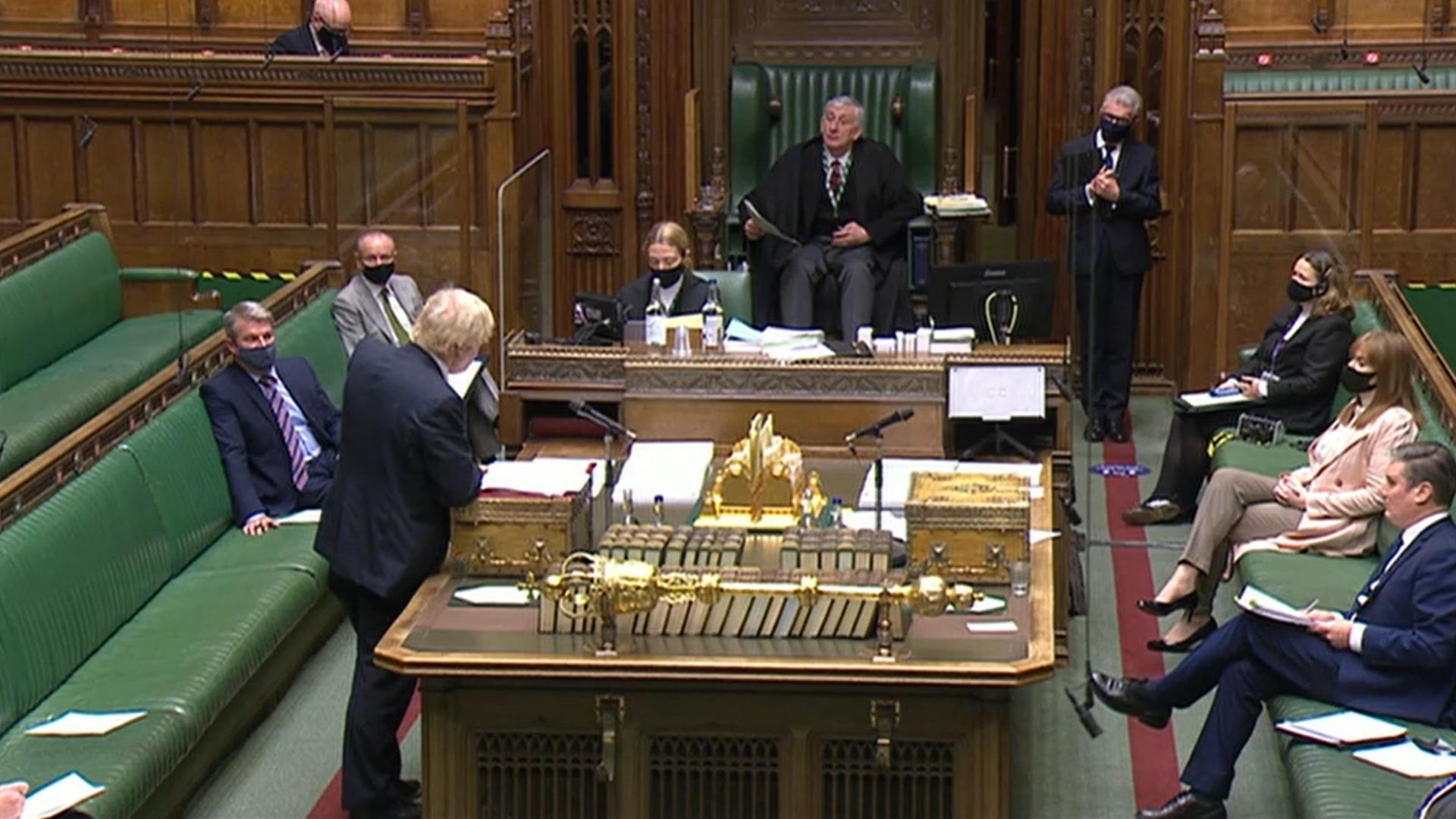 Prime minister Boris Johnson speaks during Prime Minister's Questions in the House of Commons, London. - Credit: PA