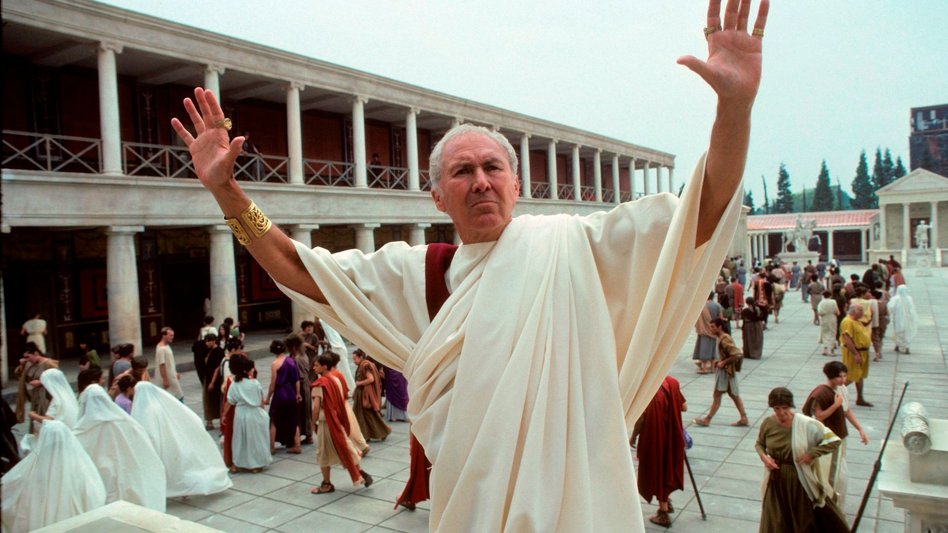 Anthony Quayle in the mini-series The Last Days of Pompeii - Credit: Walt Disney Television via Getty