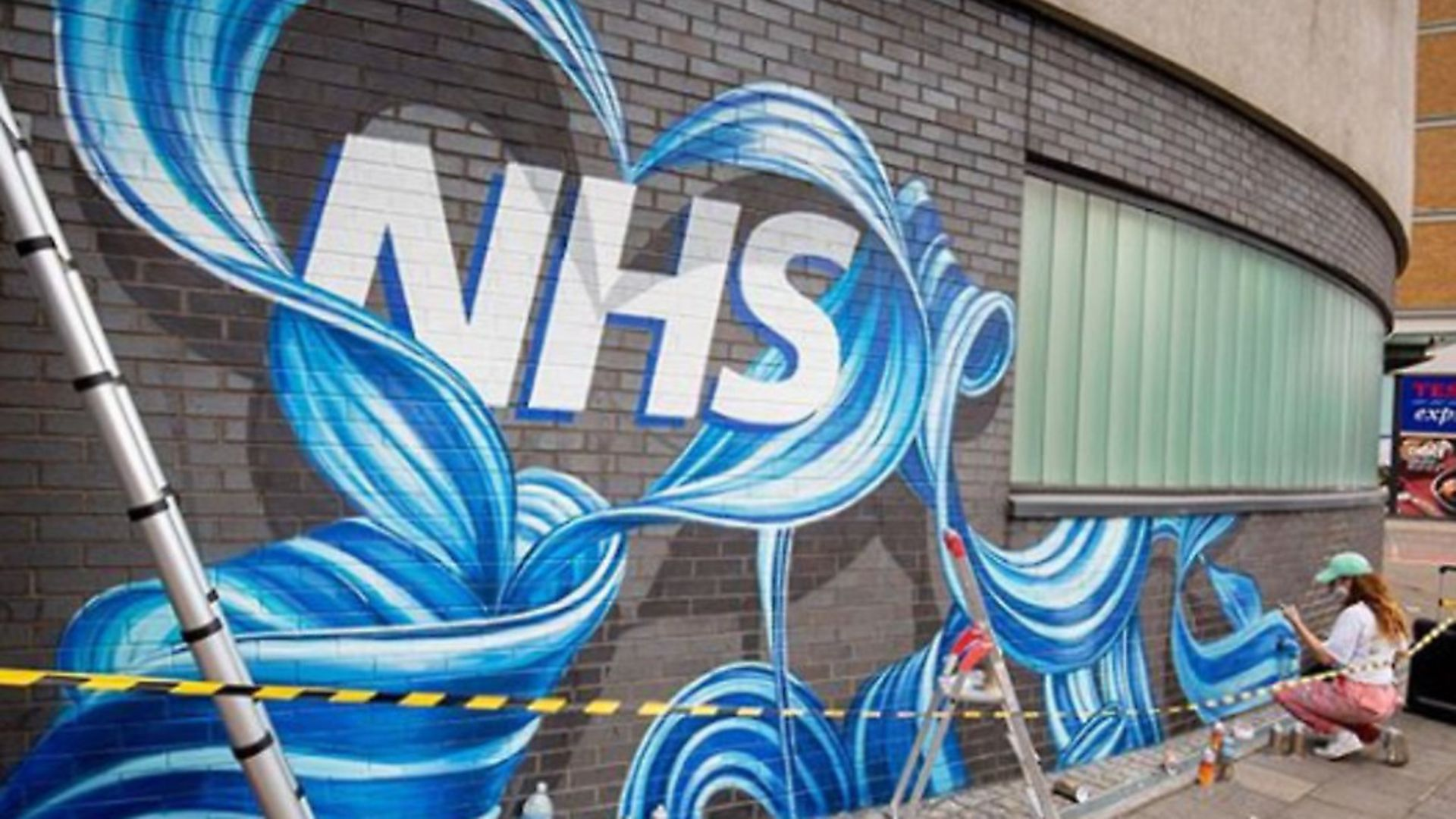 A mural of the NHS; picture source: Rosie Woods - Credit: Rosie Woods