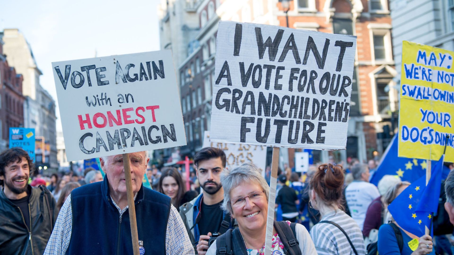 Members Of The Public March To Demand A People's Vote On Brexit. (Photo by Ollie Millington/Getty Images) - Credit: Getty Images