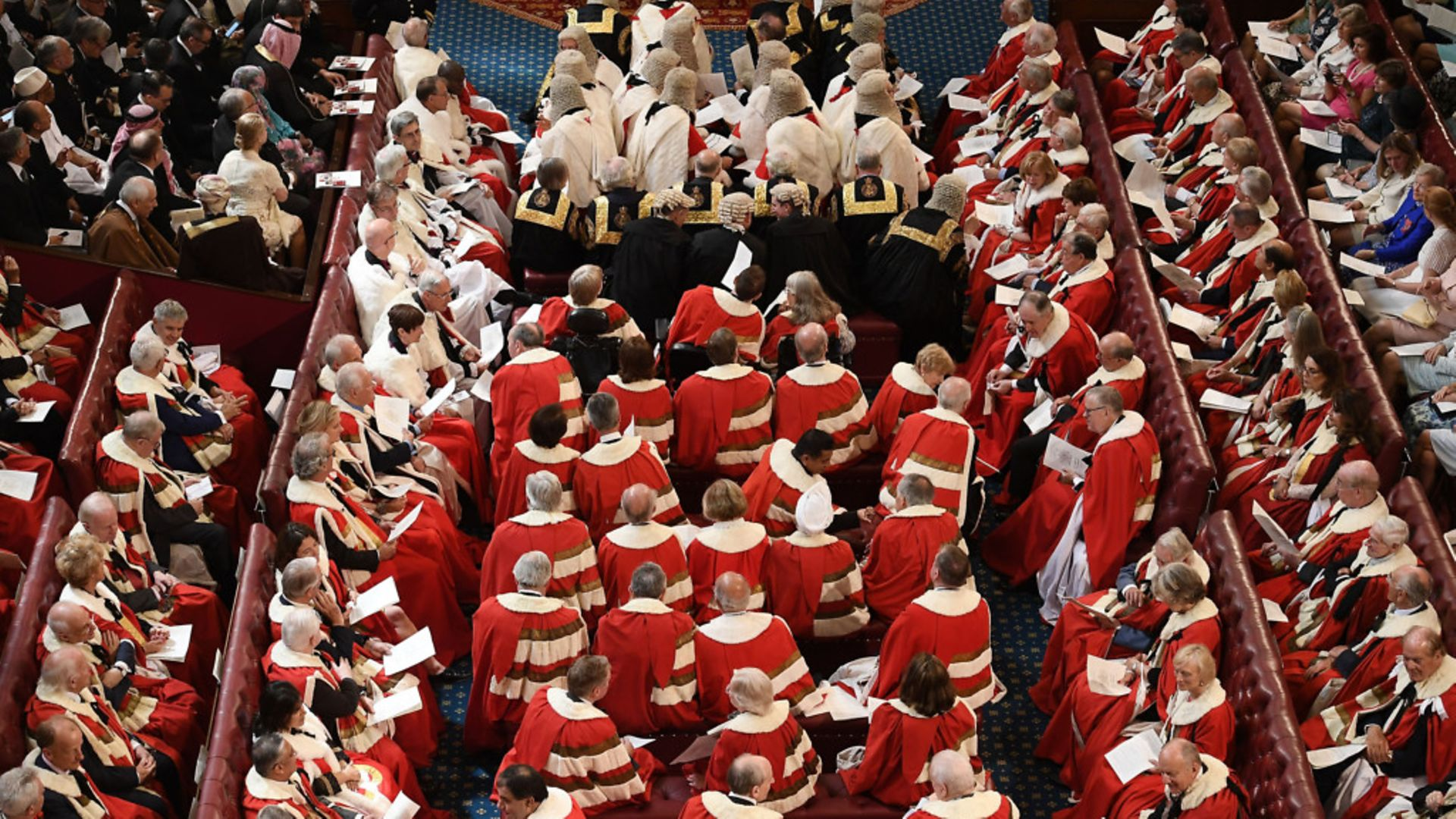 Peers take their seats in the House of Lords. Credit: Getty Images