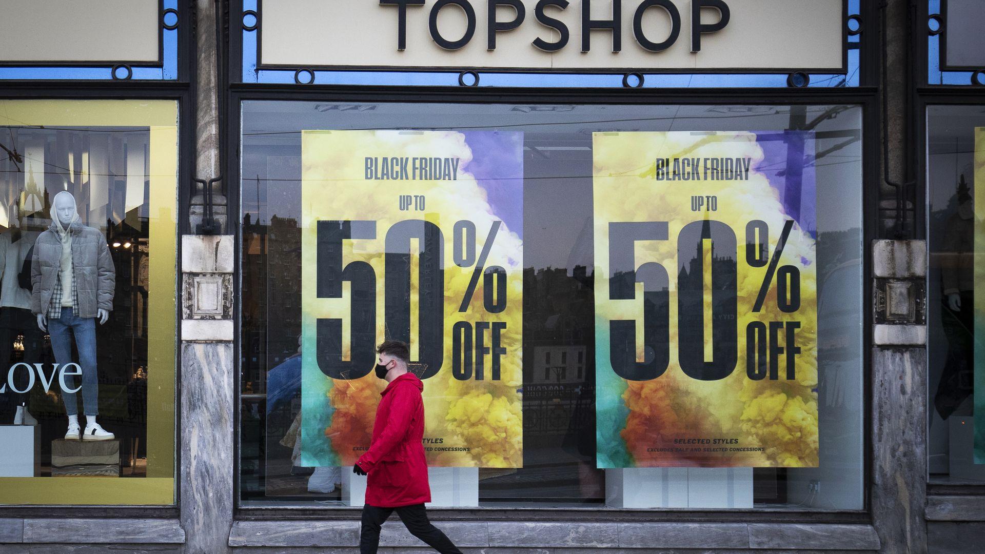 Topshop Topman store on Princes Street, Edinburgh - Credit: PA