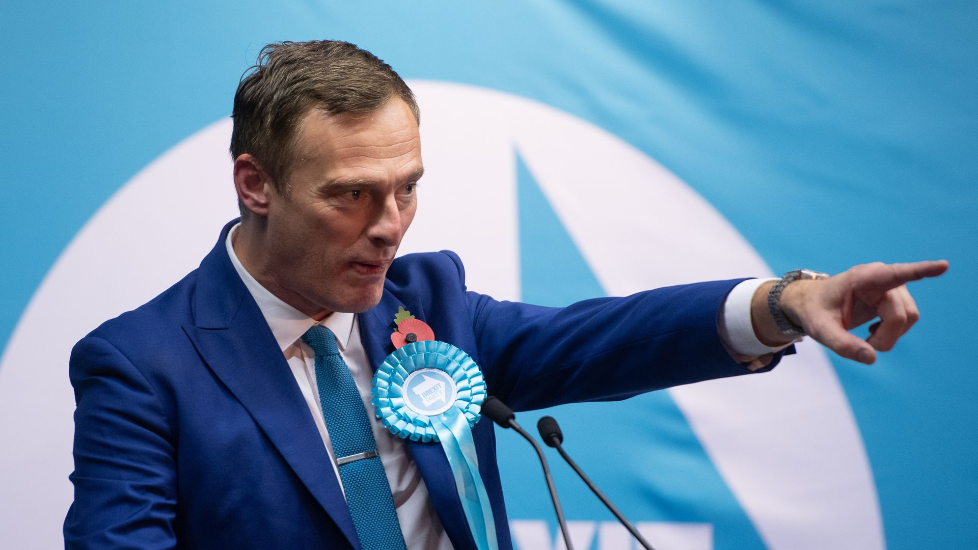 Brexit Party Prospective Parliamentary Candidate for Ashfield Martin Daubney during a rally at Bentinck Colliery Miners Welfare Social Club in Nottinghamshire. - Credit: PA