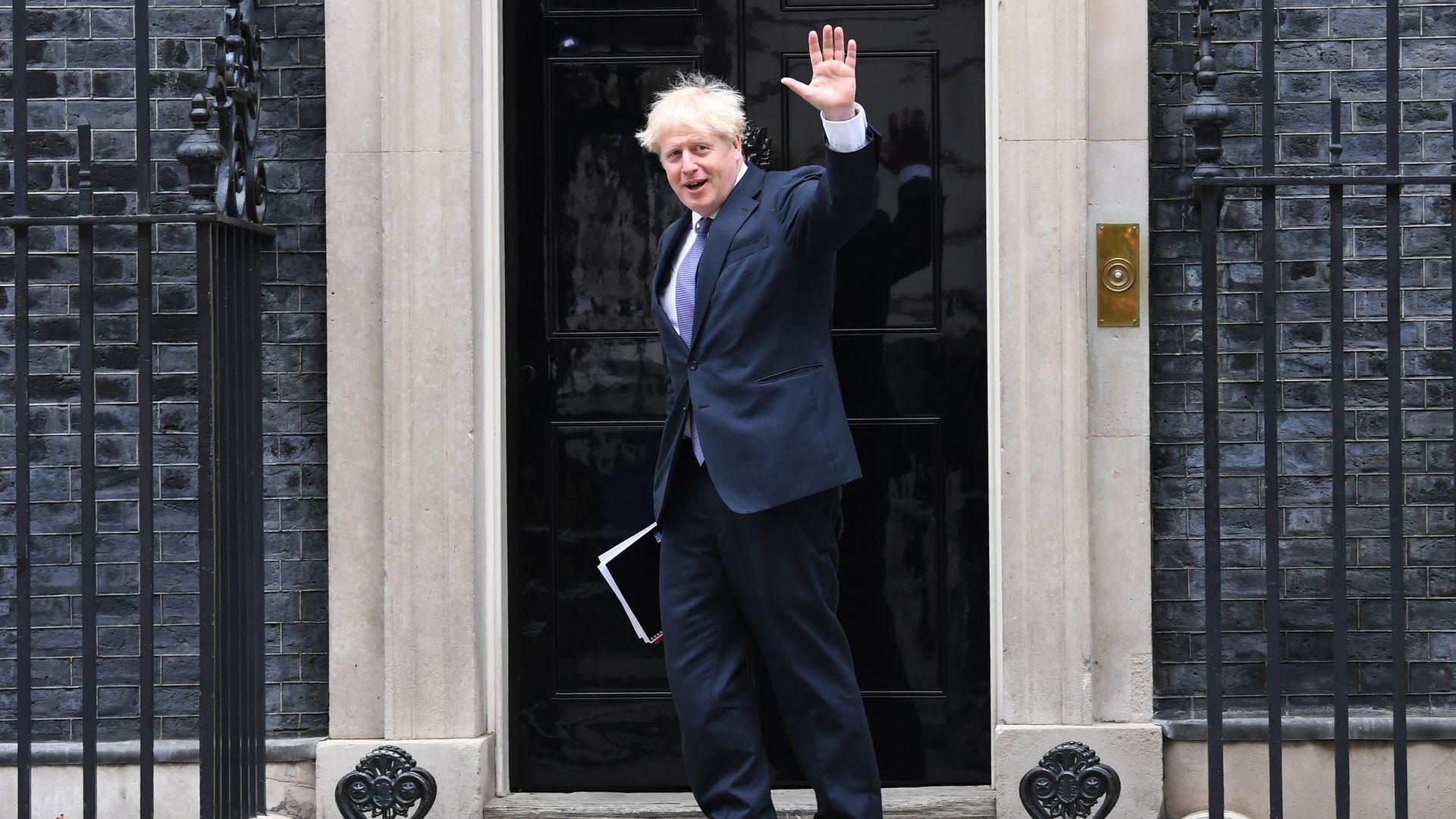 Prime minister Boris Johnson arrives at 10 Downing Street, London. - Credit: PA