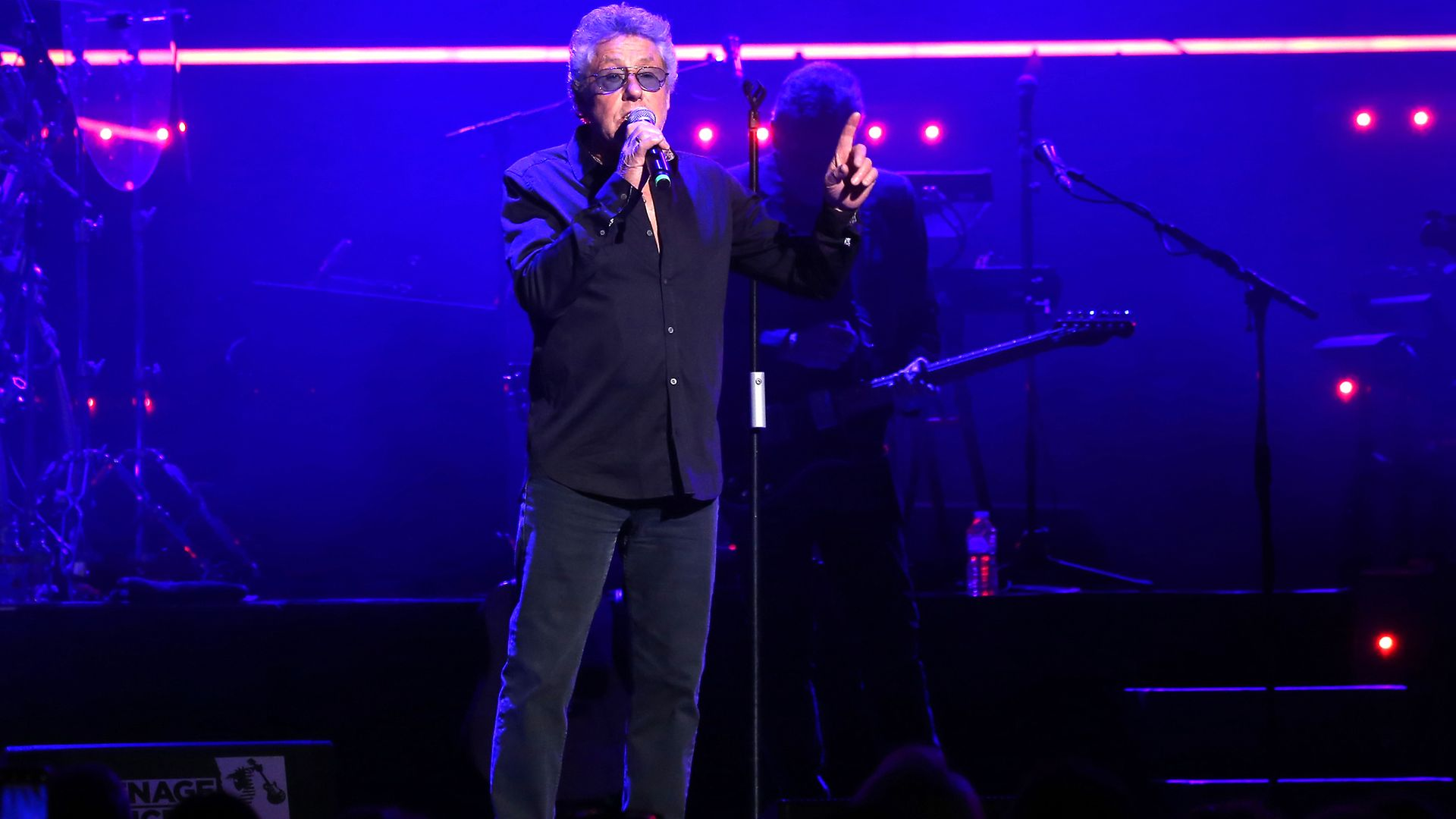 Roger Daltrey on the stage ahead of Take That performance at the Teenage Cancer Trust Concert, Royal Albert Hall, London - Credit: PA