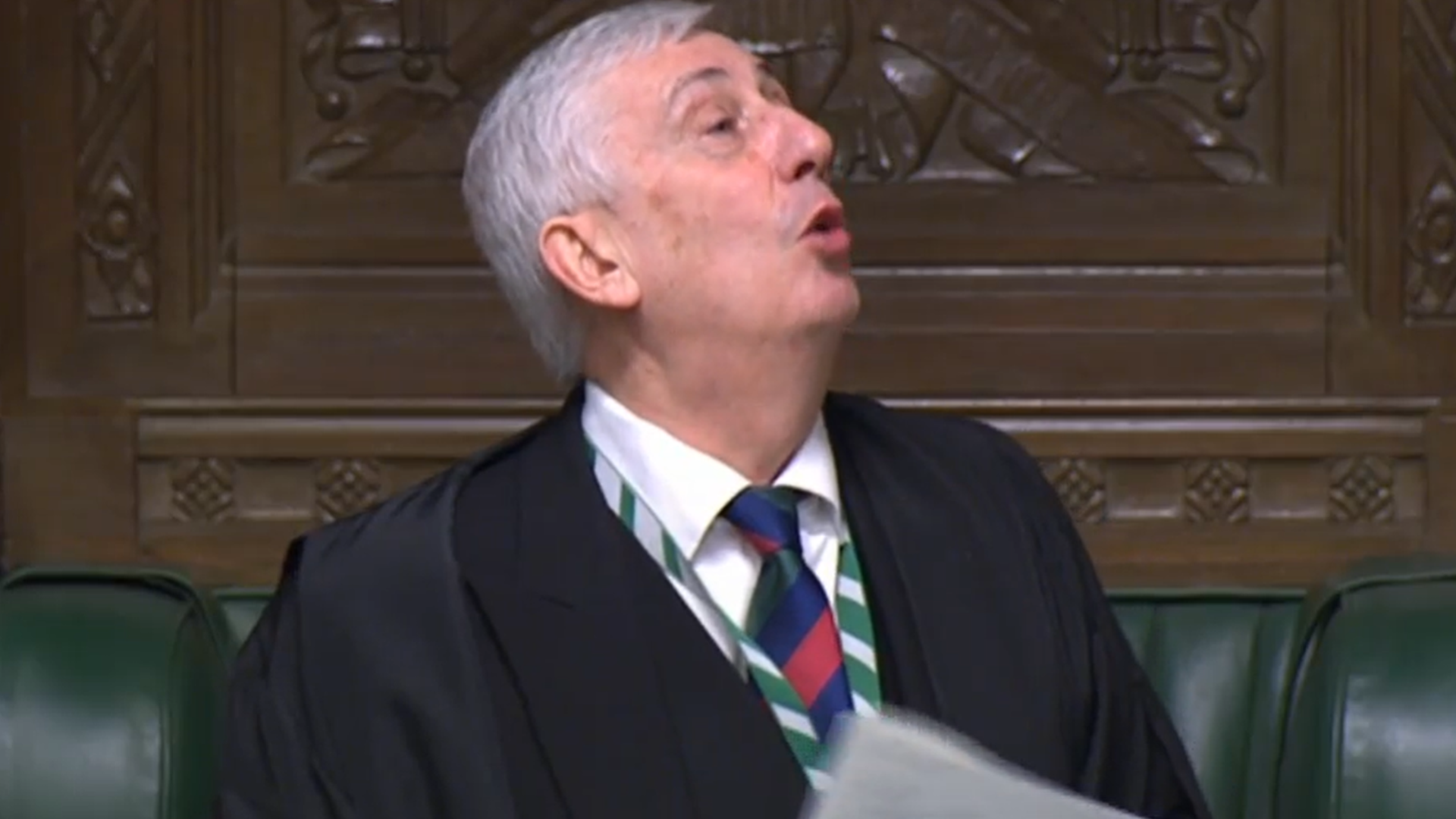 Lindsay Hoyle in the House of Commons - Credit: Parliament Live