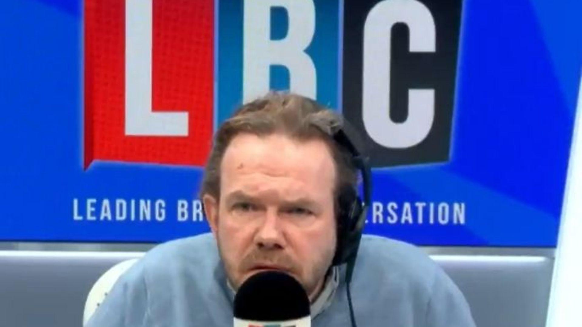 James O'Brien on LBC radio - Credit: LBC/Twitter