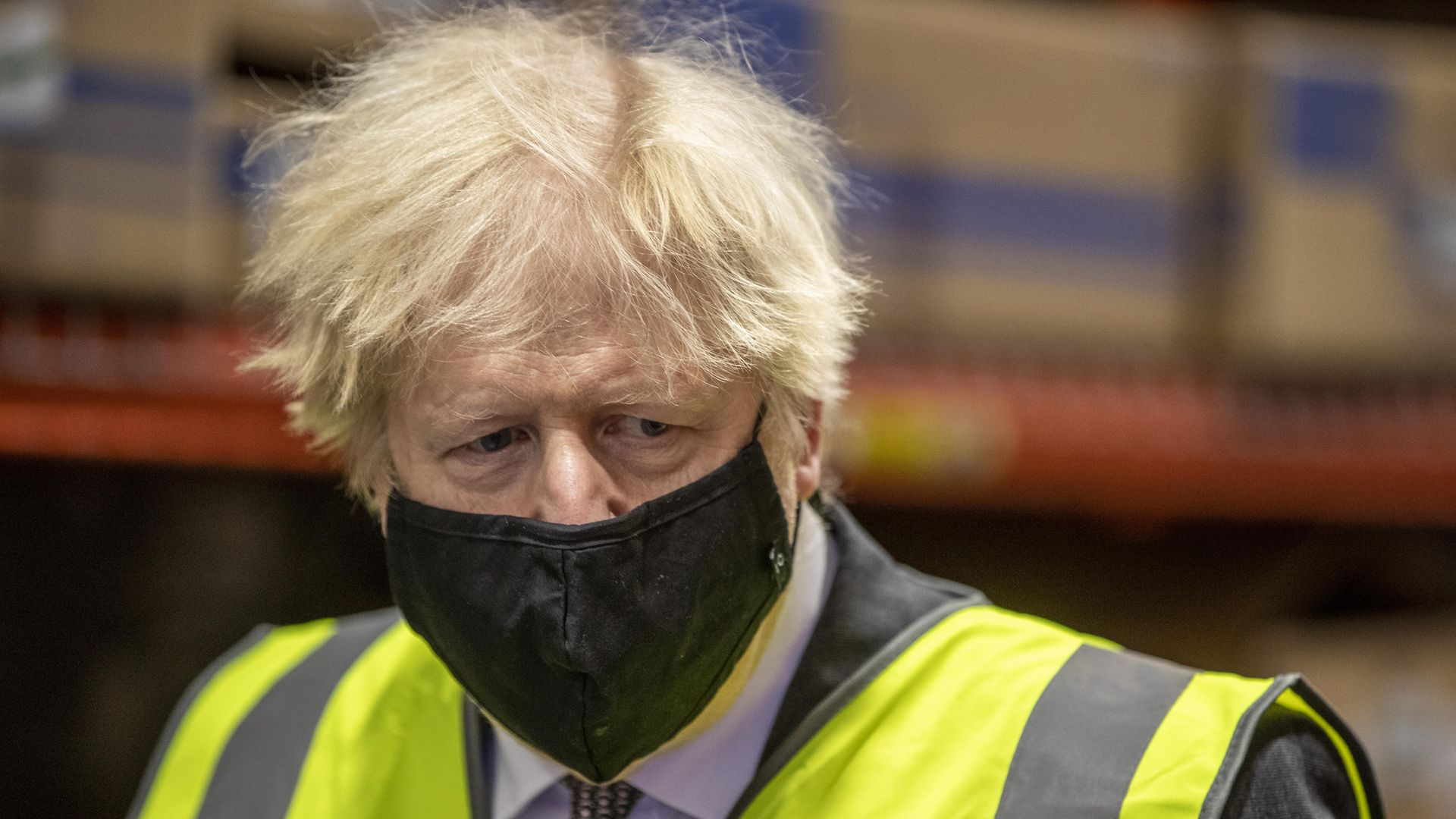 Prime Minister Boris Johnson, during a tour of the manufacturing facility for the Oxford/Astrazeneca vaccine at Oxford Biomedica in Oxfordshire - Credit: PA