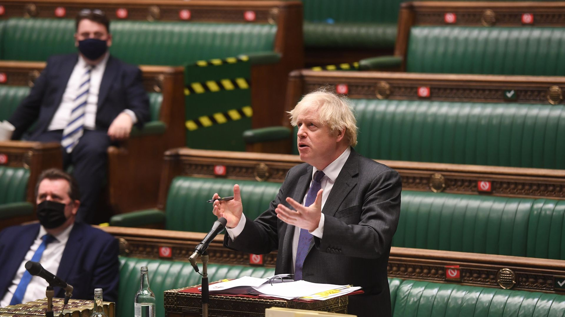 Prime Minister Boris Johnson during Prime Minister's Questions in the House of Commons, London - Credit: PA