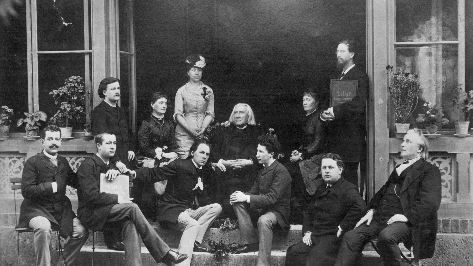 Franz Liszt among his pupils - Credit: Bettmann Archive
